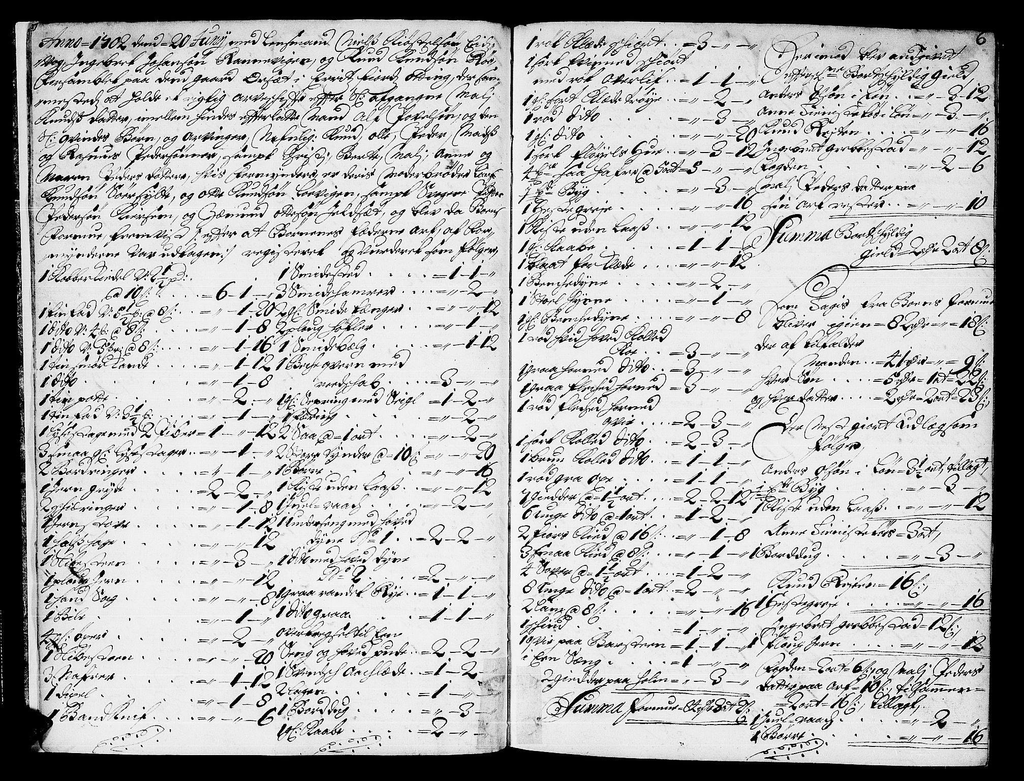 SAT, Romsdal sorenskriveri, 3/3A/L0004: Skifteprotokoll, 1702-1706, s. 5b-6a