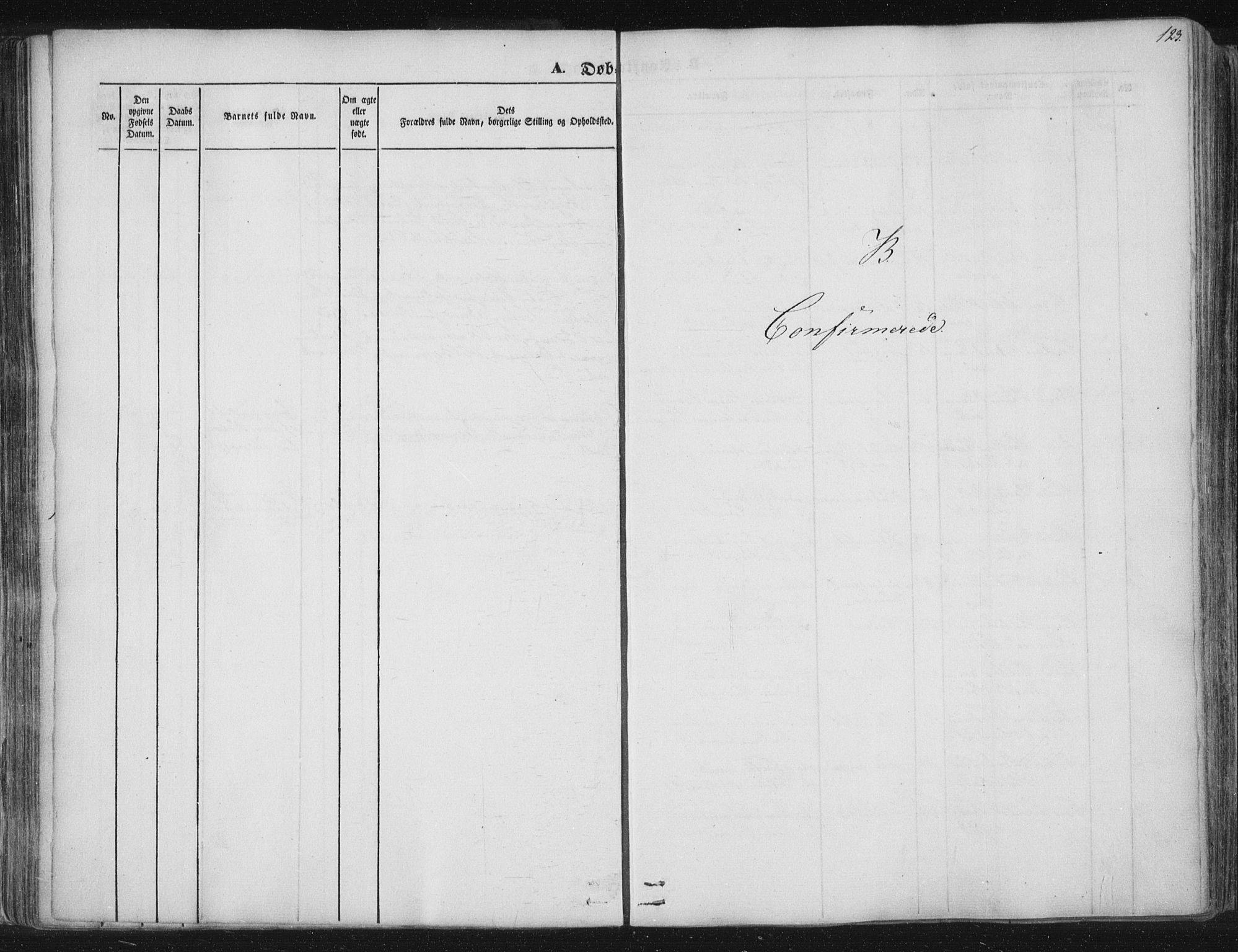 SAT, Ministerialprotokoller, klokkerbøker og fødselsregistre - Nord-Trøndelag, 741/L0392: Ministerialbok nr. 741A06, 1836-1848, s. 123
