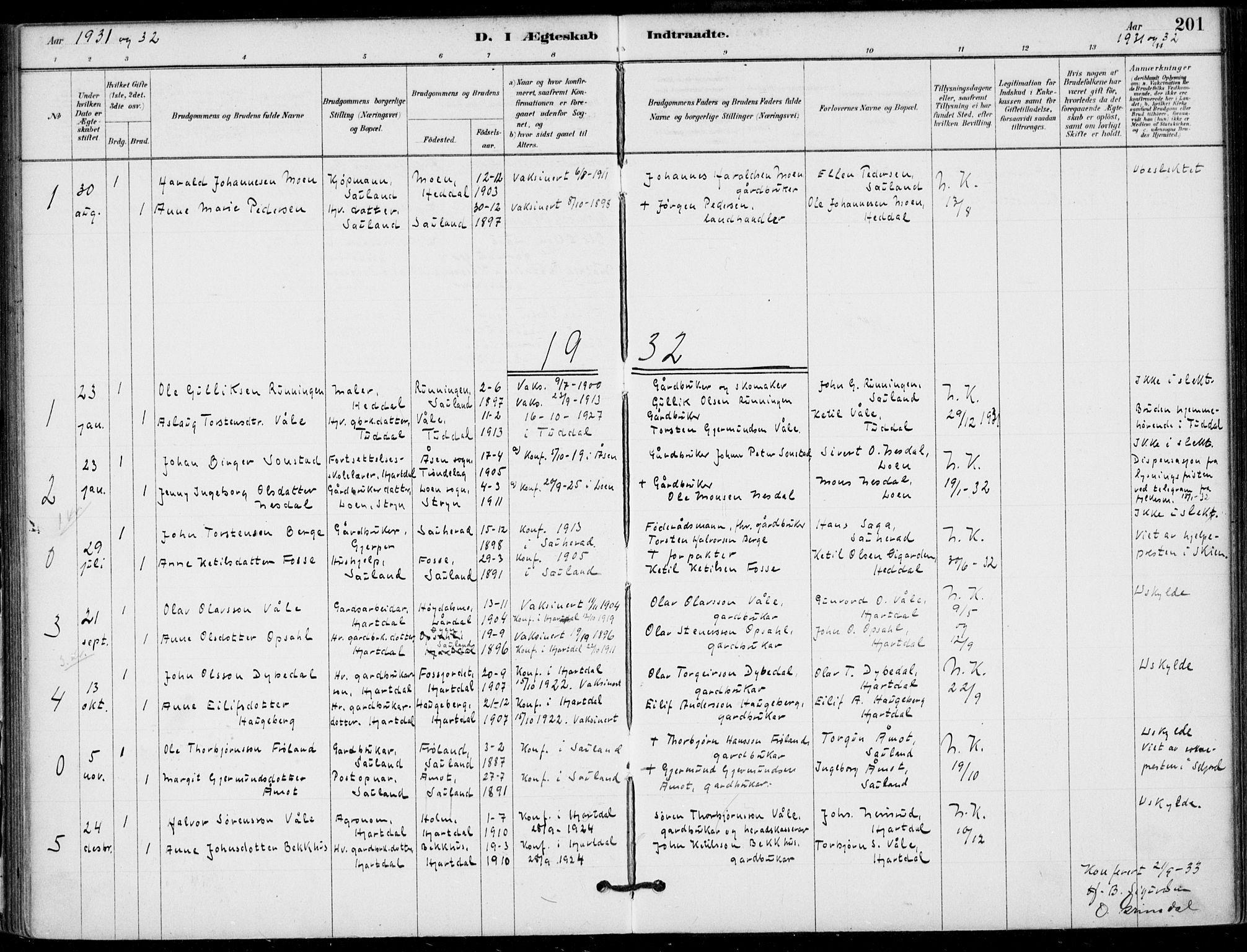 SAKO, Hjartdal kirkebøker, F/Fb/L0002: Ministerialbok nr. II 2, 1880-1932, s. 201