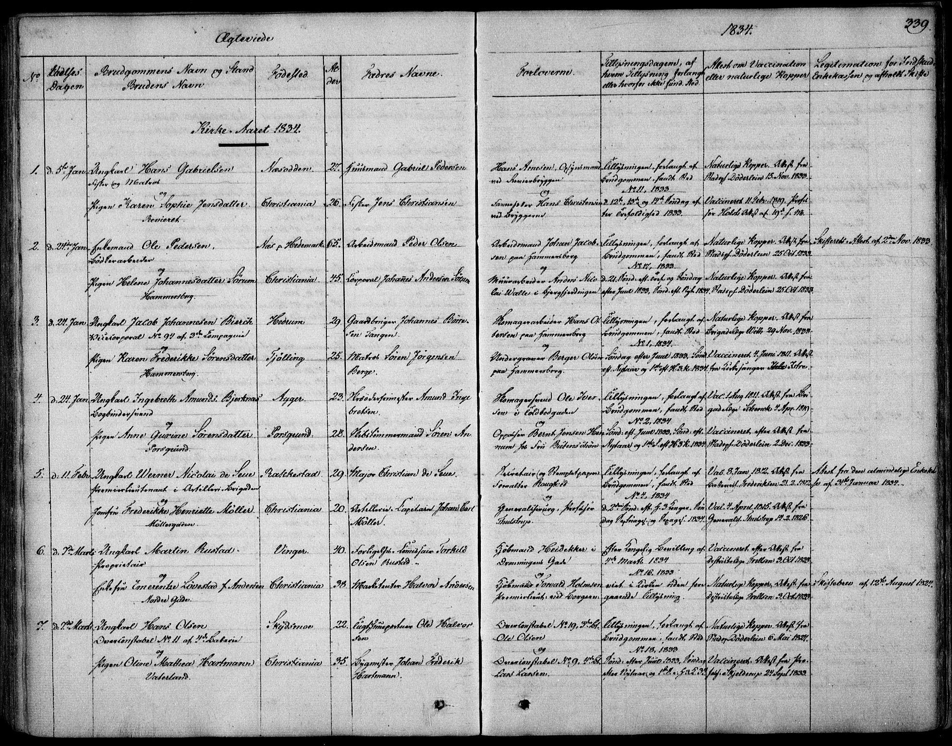SAO, Garnisonsmenigheten Kirkebøker, F/Fa/L0006: Ministerialbok nr. 6, 1828-1841, s. 339