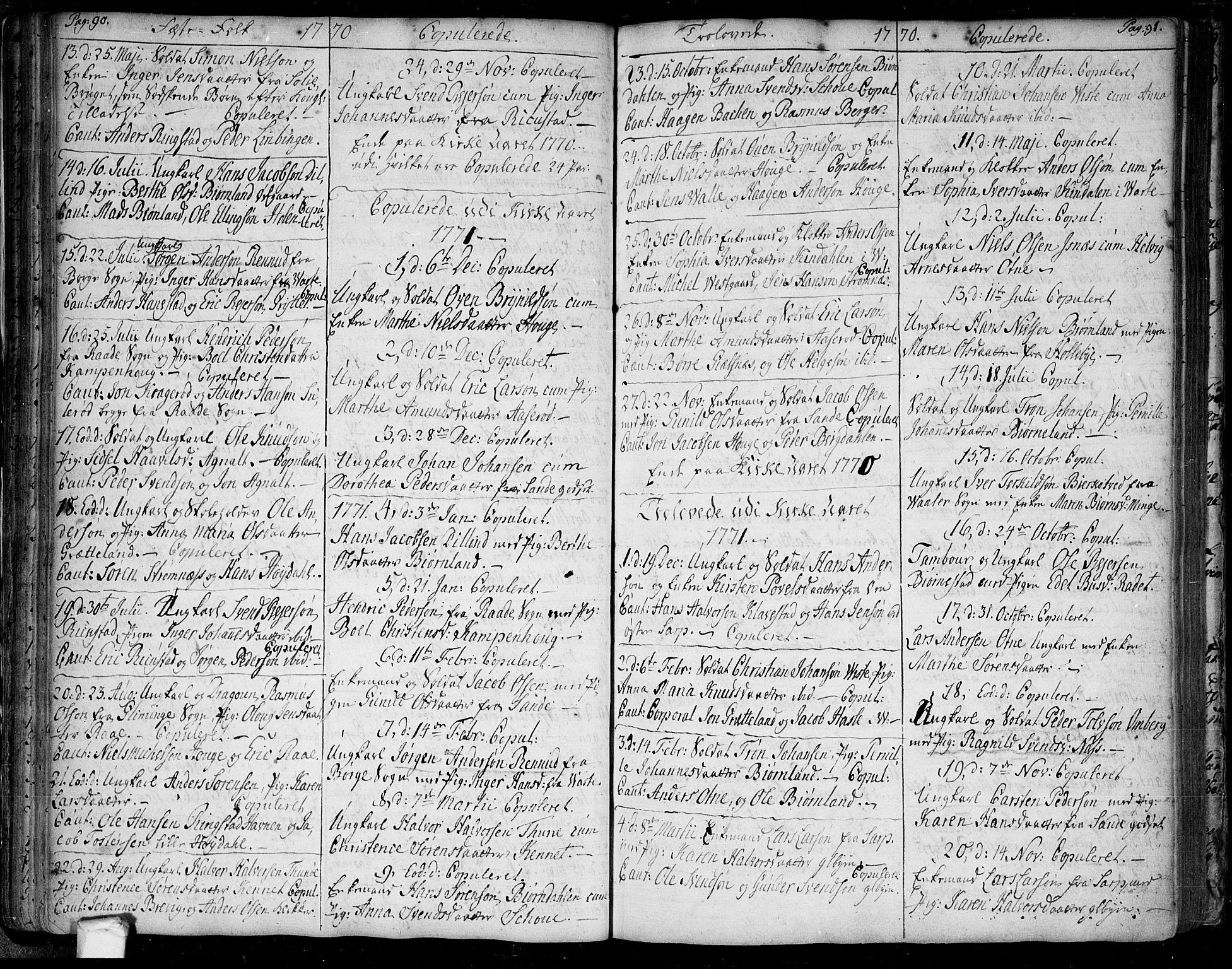 SAO, Tune prestekontor Kirkebøker, F/Fa/L0002: Ministerialbok nr. 2, 1758-1781, s. 90-91