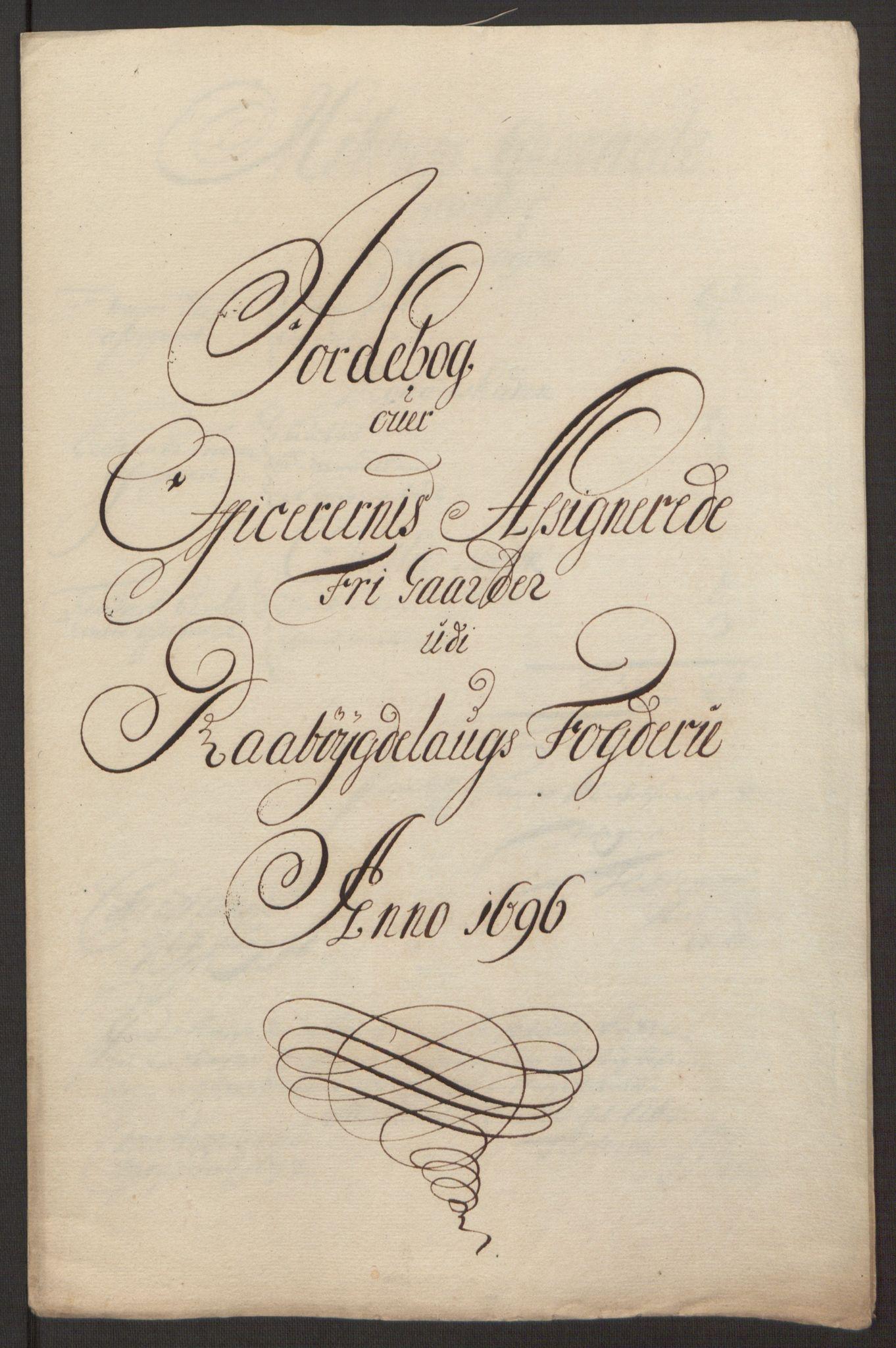 RA, Rentekammeret inntil 1814, Reviderte regnskaper, Fogderegnskap, R40/L2444: Fogderegnskap Råbyggelag, 1693-1696, s. 335
