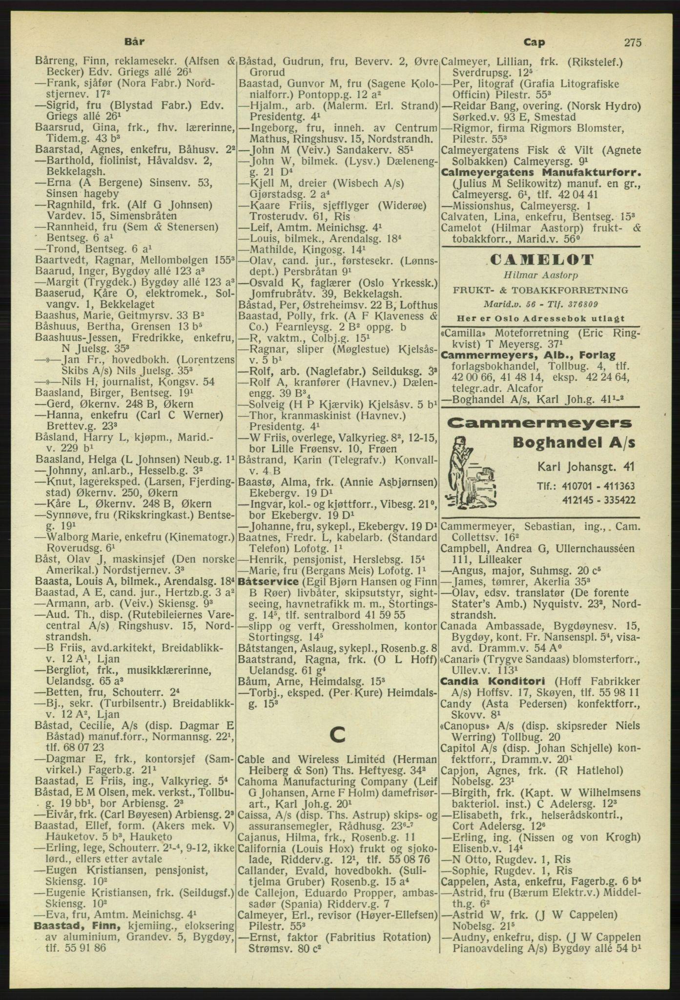 PUBL, Kristiania/Oslo adressebok, 1958-1959, s. 275