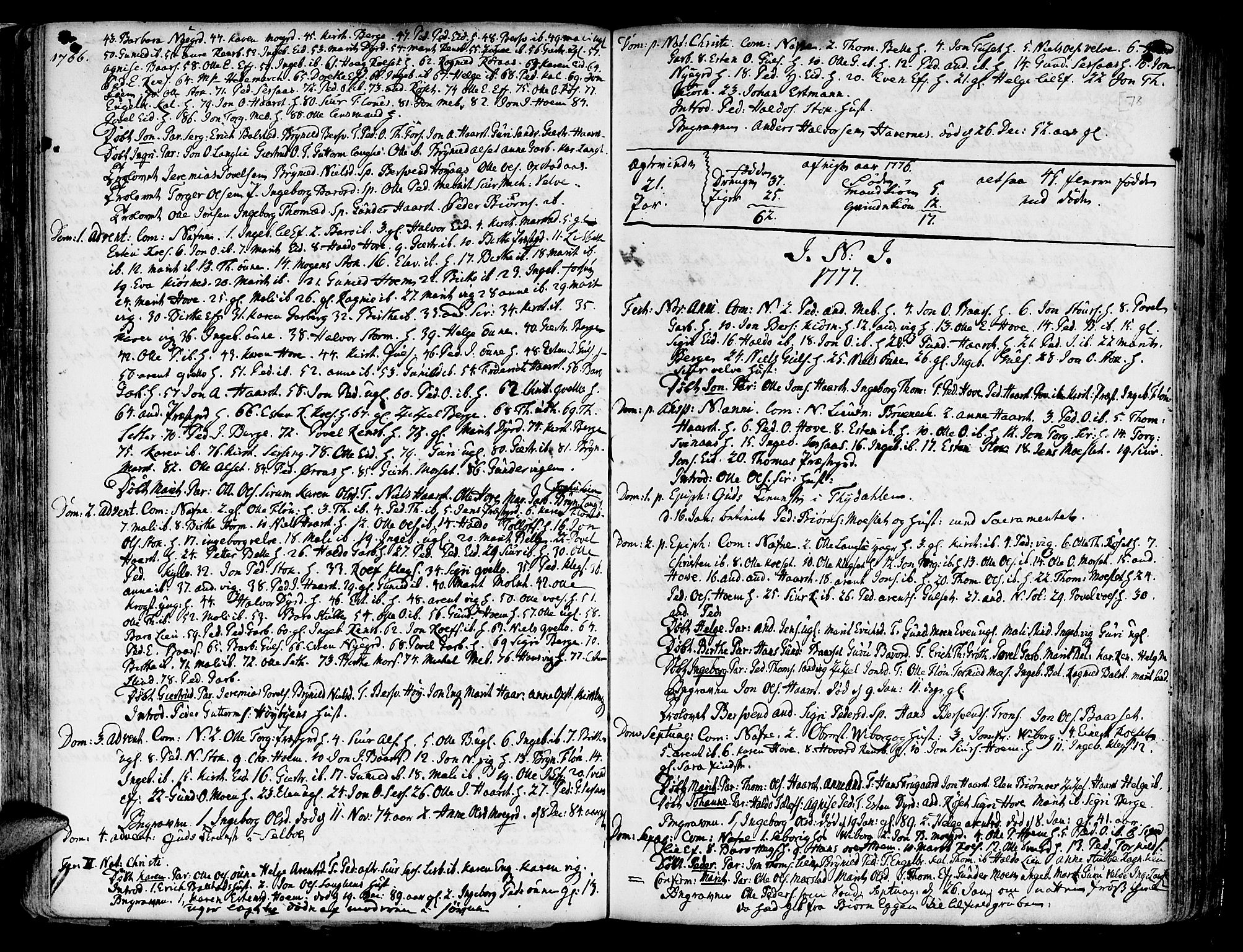 SAT, Ministerialprotokoller, klokkerbøker og fødselsregistre - Sør-Trøndelag, 695/L1138: Ministerialbok nr. 695A02 /1, 1757-1801, s. 78