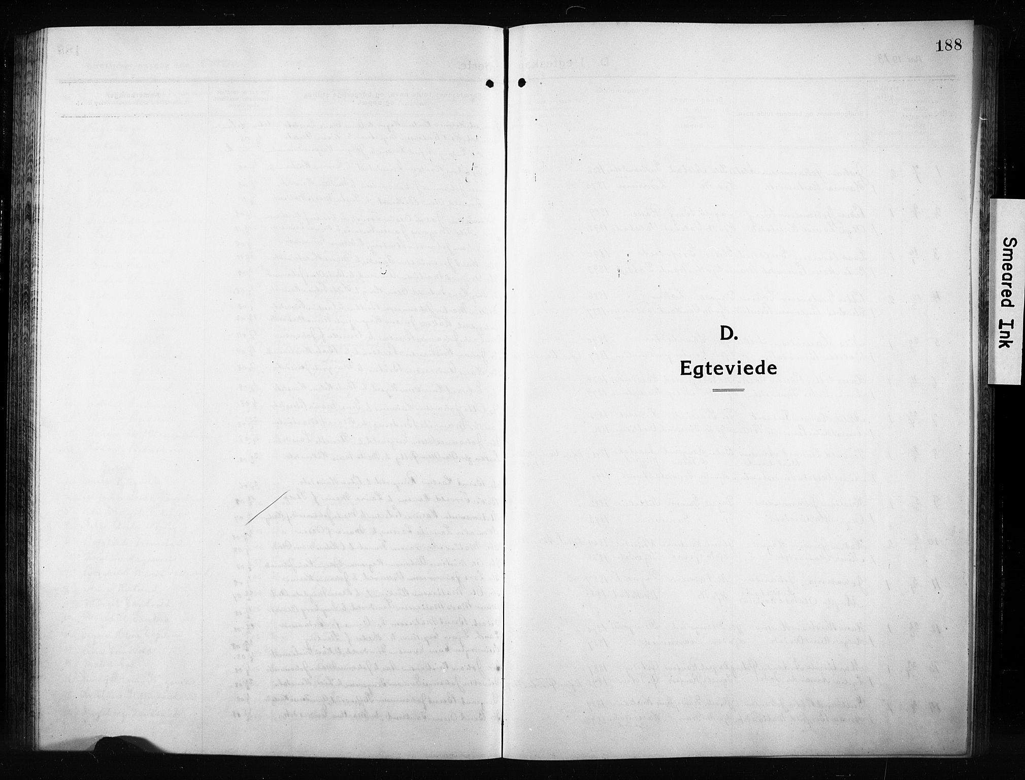 SAH, Vestre Toten prestekontor, H/Ha/Hab/L0012: Klokkerbok nr. 12, 1909-1928, s. 188