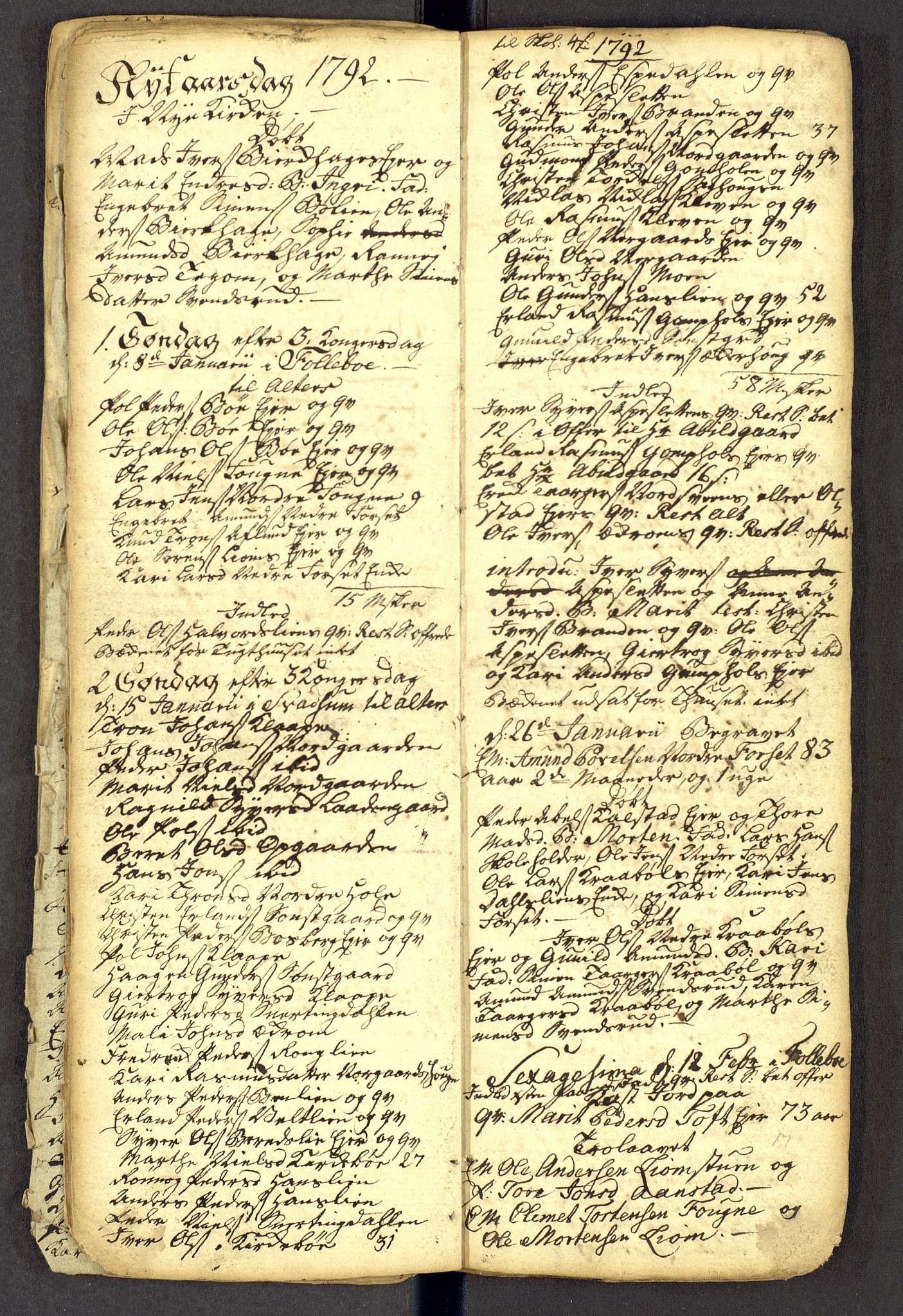 SAH, Gausdal prestekontor, Kladd til kirkebok nr. -, 1786-1793