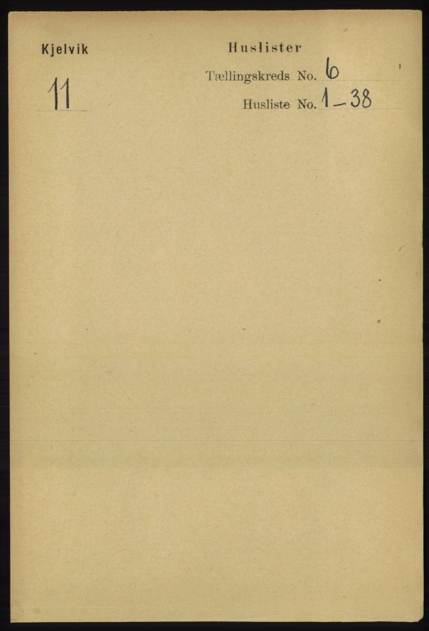 RA, Folketelling 1891 for 2019 Kjelvik herred, 1891, s. 582