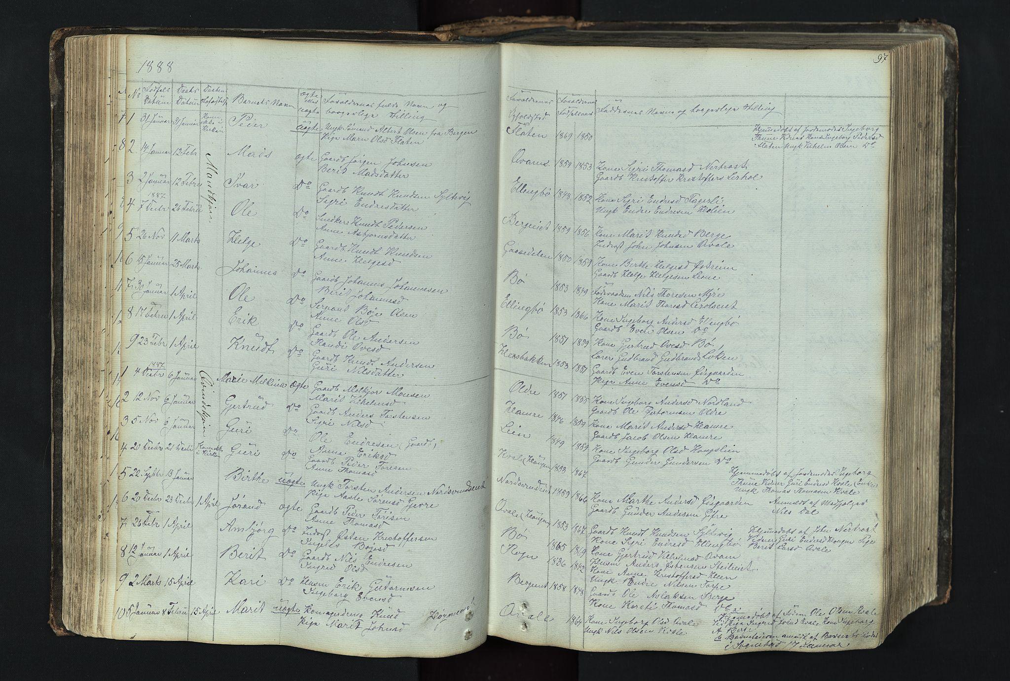 SAH, Vang prestekontor, Valdres, Klokkerbok nr. 4, 1835-1892, s. 97