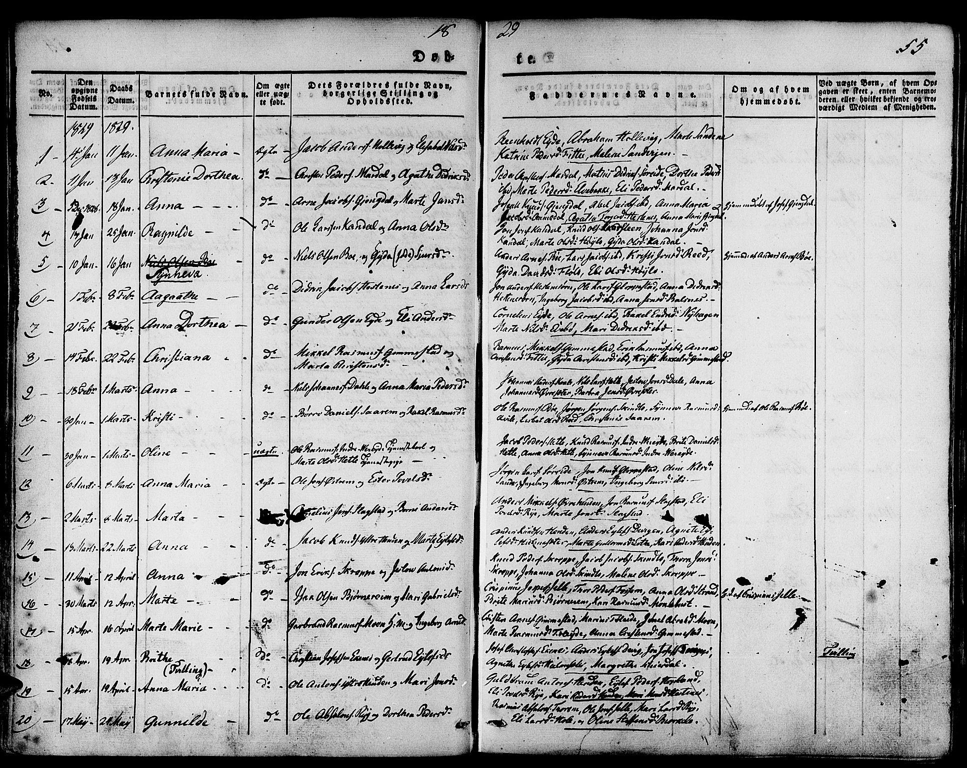 SAB, Gloppen Sokneprestembete, H/Haa/Haaa/L0007: Ministerialbok nr. A 7, 1827-1837, s. 55