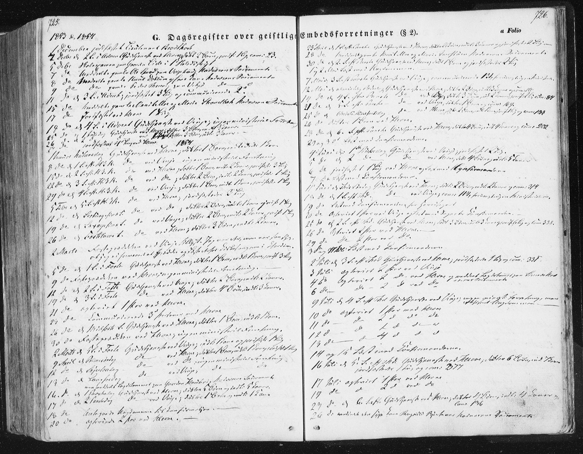 SAT, Ministerialprotokoller, klokkerbøker og fødselsregistre - Sør-Trøndelag, 630/L0494: Ministerialbok nr. 630A07, 1852-1868, s. 725-726