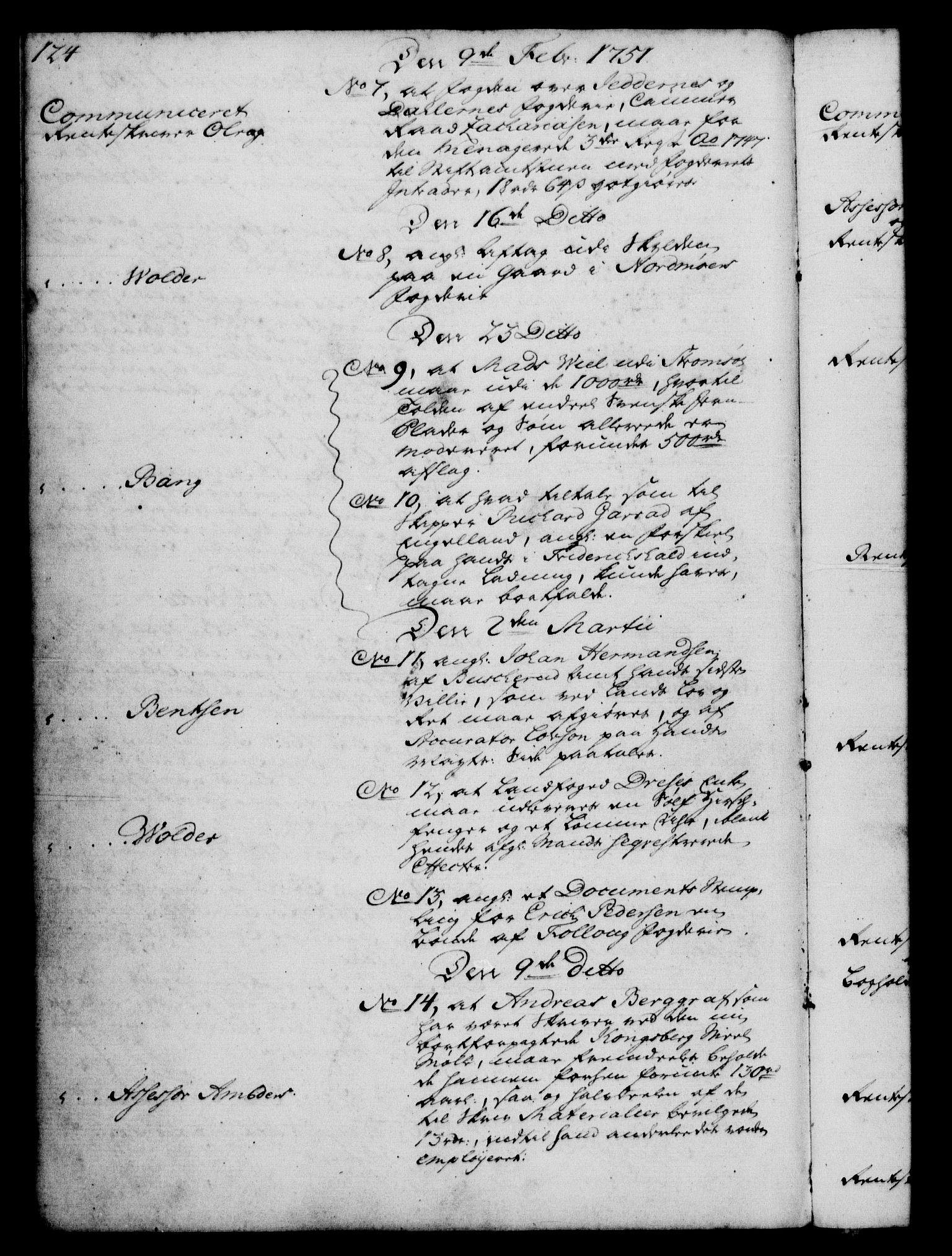 RA, Rentekammeret, Kammerkanselliet, G/Gf/Gfb/L0005: Register til norske relasjons- og resolusjonsprotokoller (merket RK 52.100), 1744-1754, s. 124