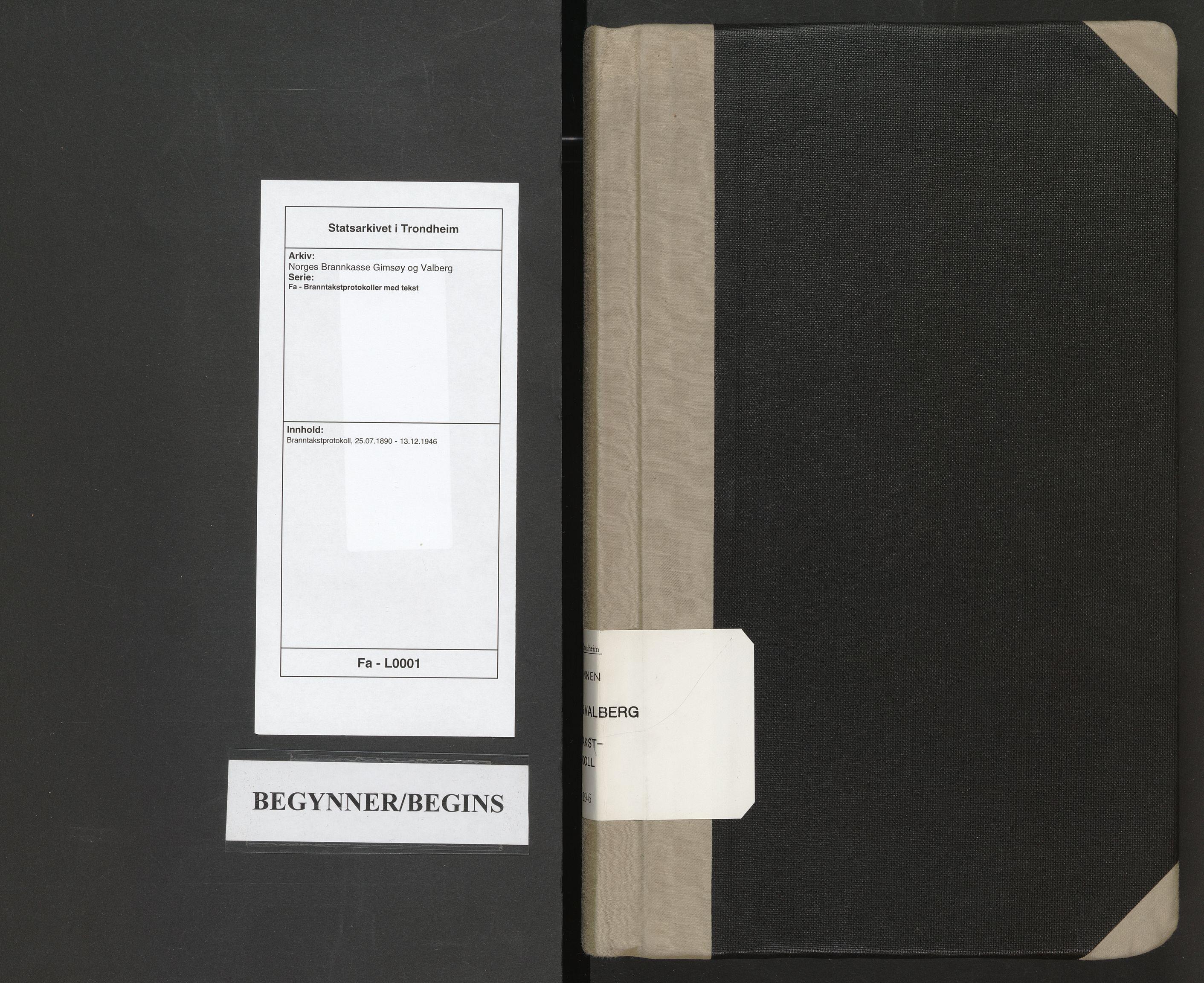SAT, Norges Brannkasse Gimsøy og Valberg, Fa/L0001: Branntakstprotokoll, 1890-1946