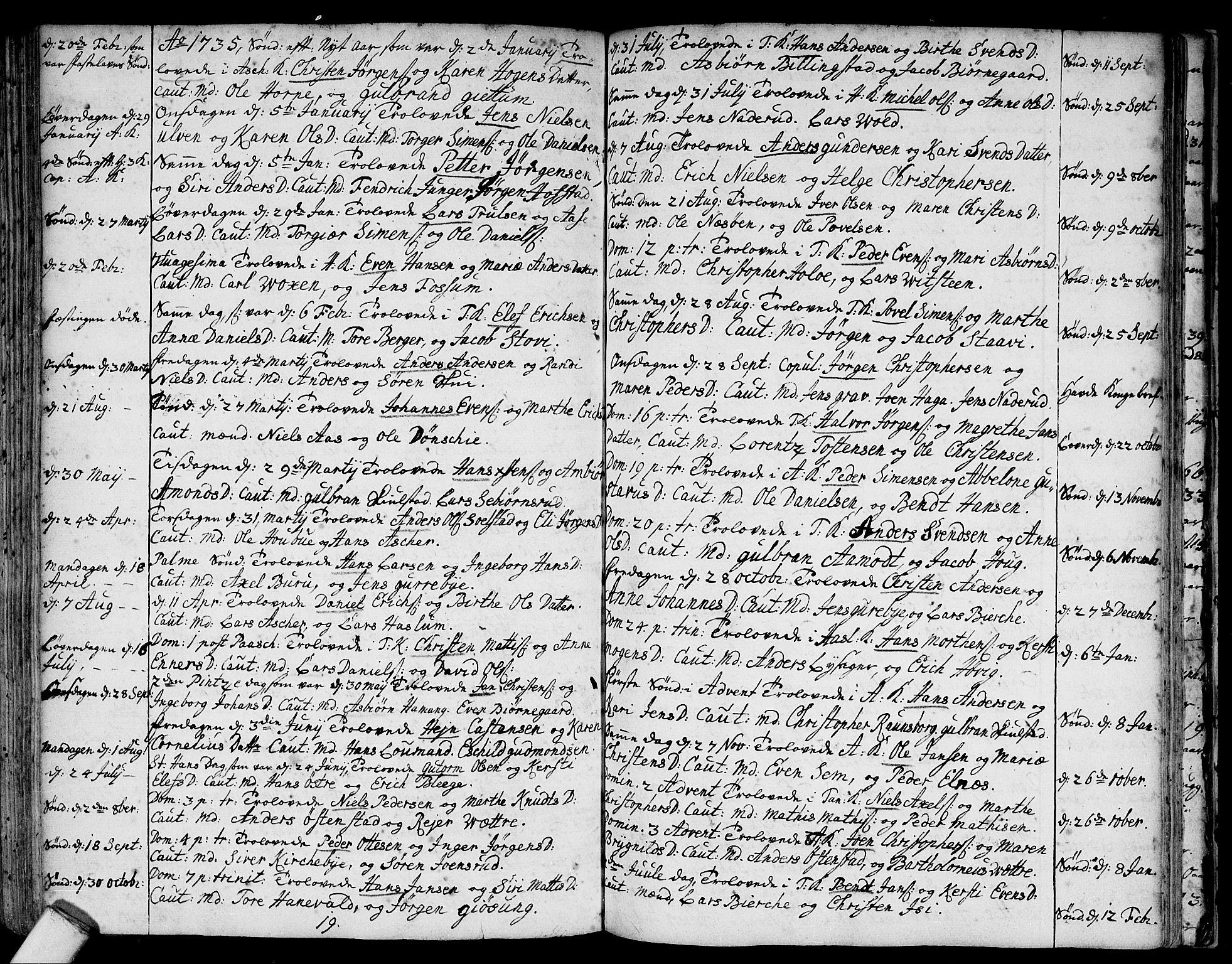 SAO, Asker prestekontor Kirkebøker, F/Fa/L0001: Ministerialbok nr. I 1, 1726-1744, s. 86