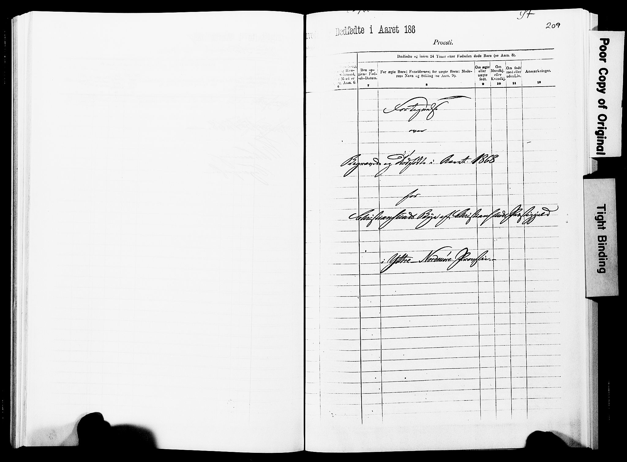 SAT, Ministerialprotokoller, klokkerbøker og fødselsregistre - Møre og Romsdal, 572/L0857: Ministerialbok nr. 572D01, 1866-1872, s. 208-209