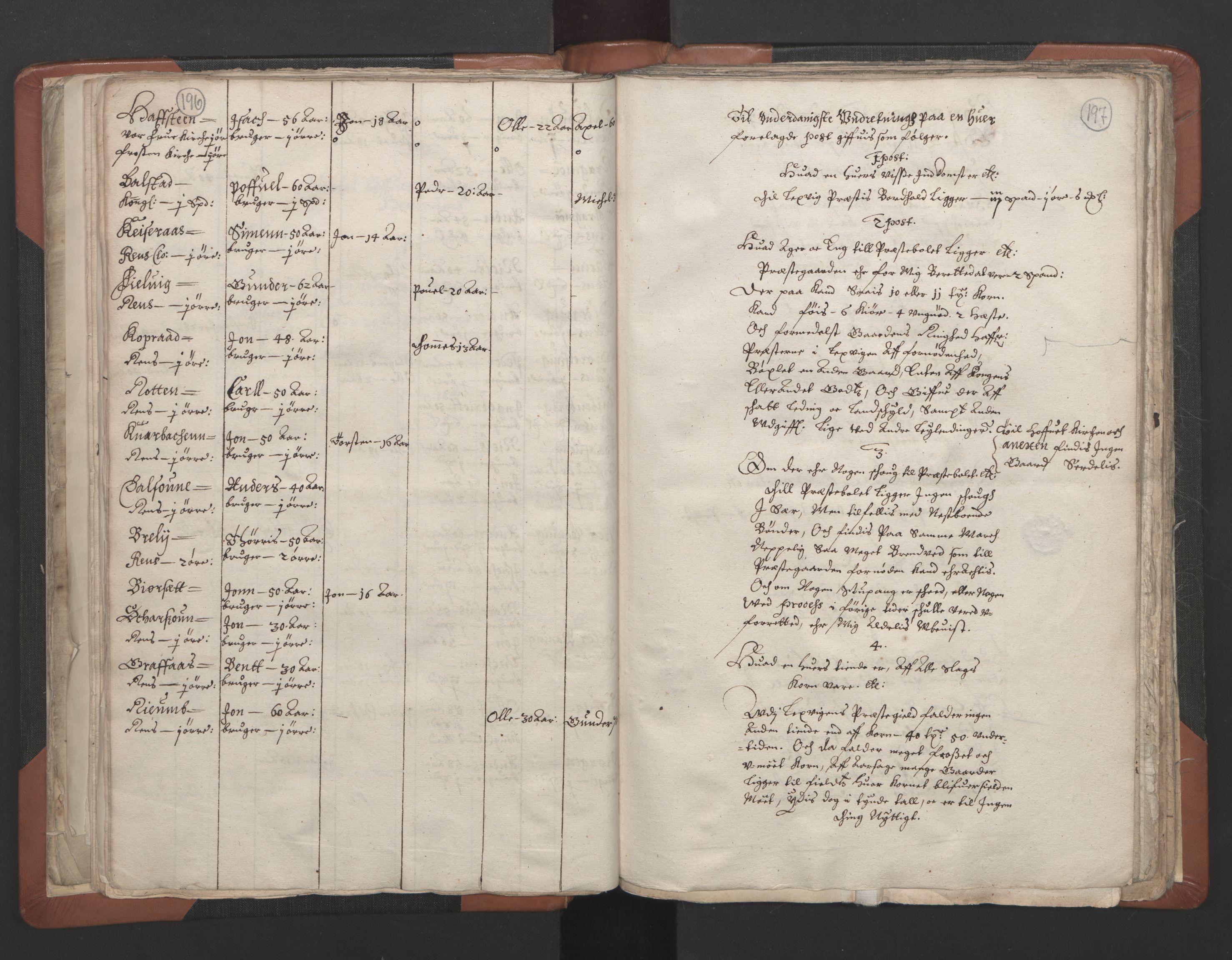 RA, Sogneprestenes manntall 1664-1666, nr. 32: Innherad prosti, 1664-1666, s. 196-197