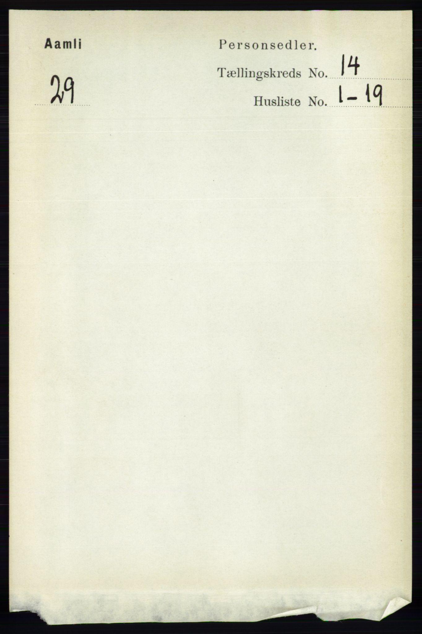 RA, Folketelling 1891 for 0929 Åmli herred, 1891, s. 2265