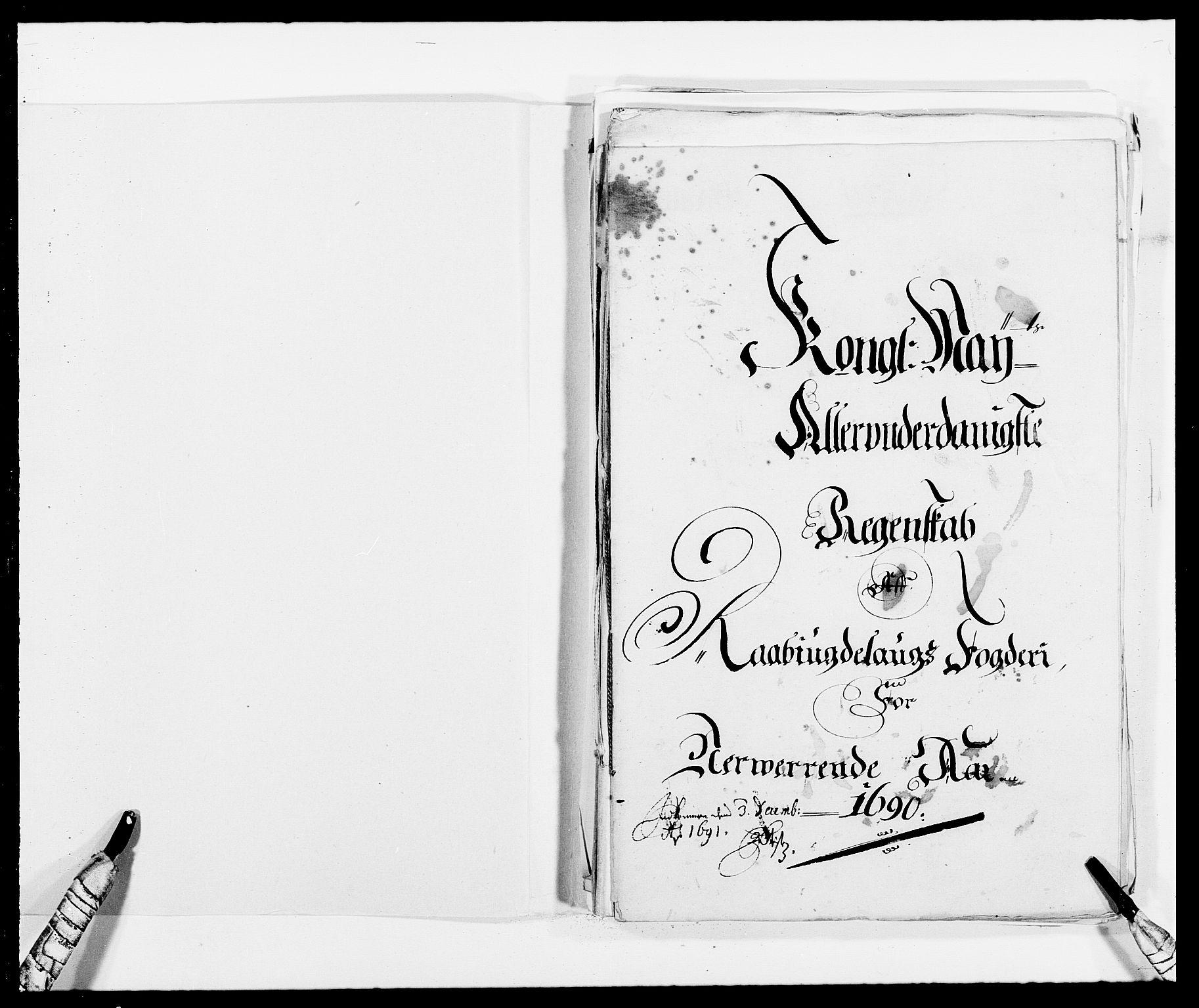 RA, Rentekammeret inntil 1814, Reviderte regnskaper, Fogderegnskap, R40/L2442: Fogderegnskap Råbyggelag, 1689-1690, s. 135