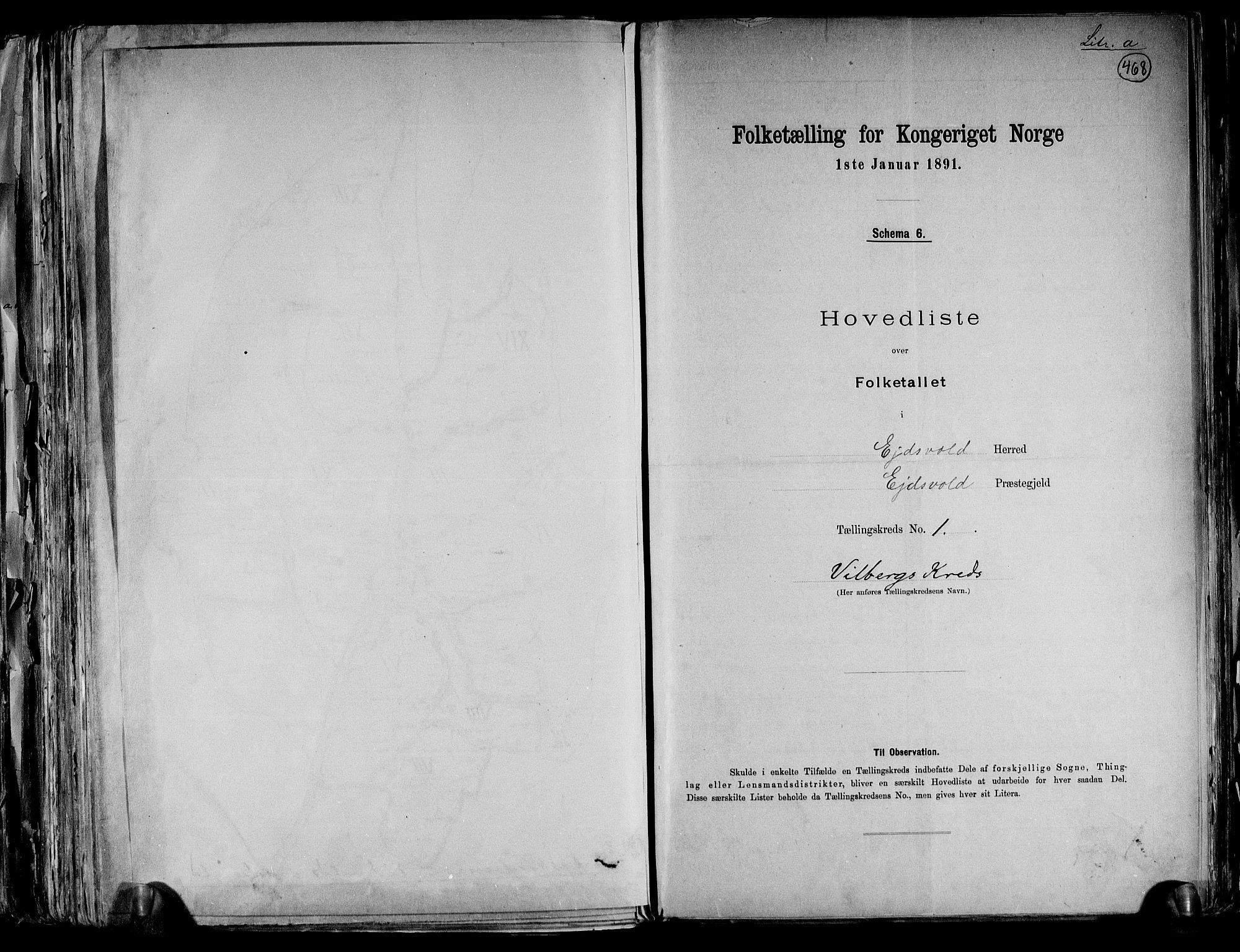 RA, Folketelling 1891 for 0237 Eidsvoll herred, 1891, s. 5