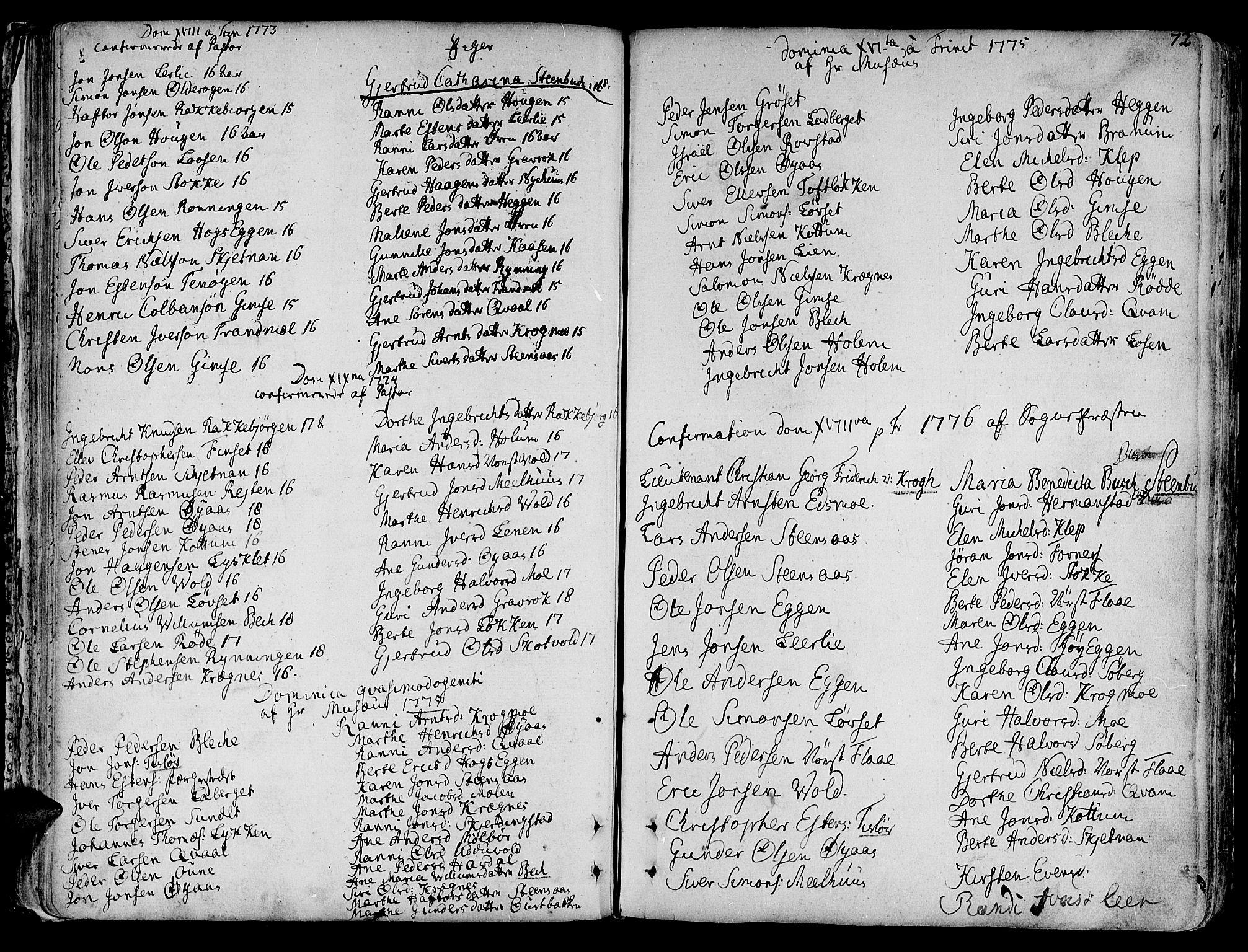 SAT, Ministerialprotokoller, klokkerbøker og fødselsregistre - Sør-Trøndelag, 691/L1061: Ministerialbok nr. 691A02 /1, 1768-1815, s. 72