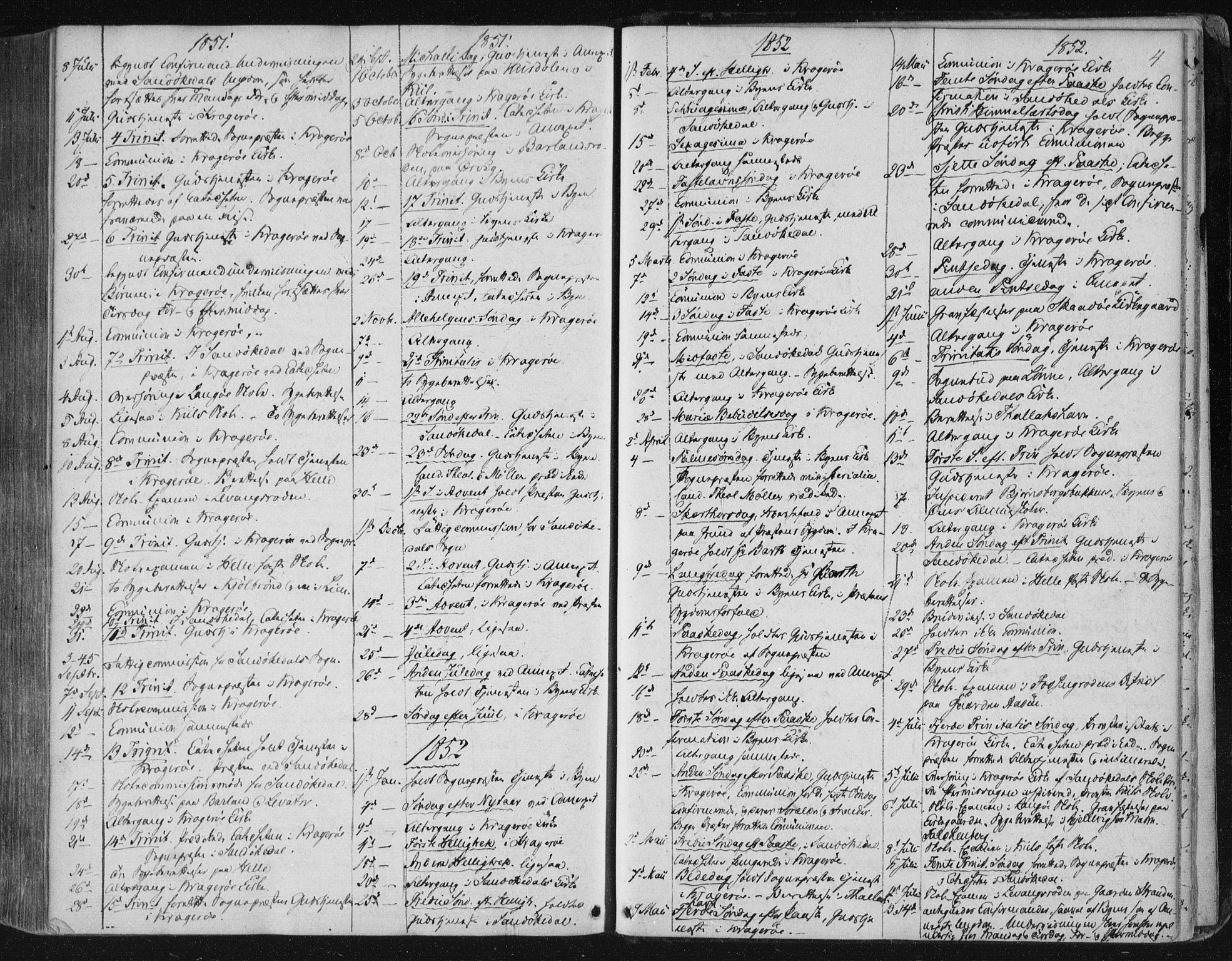 SAKO, Kragerø kirkebøker, F/Fa/L0006: Ministerialbok nr. 6, 1847-1861, s. 4