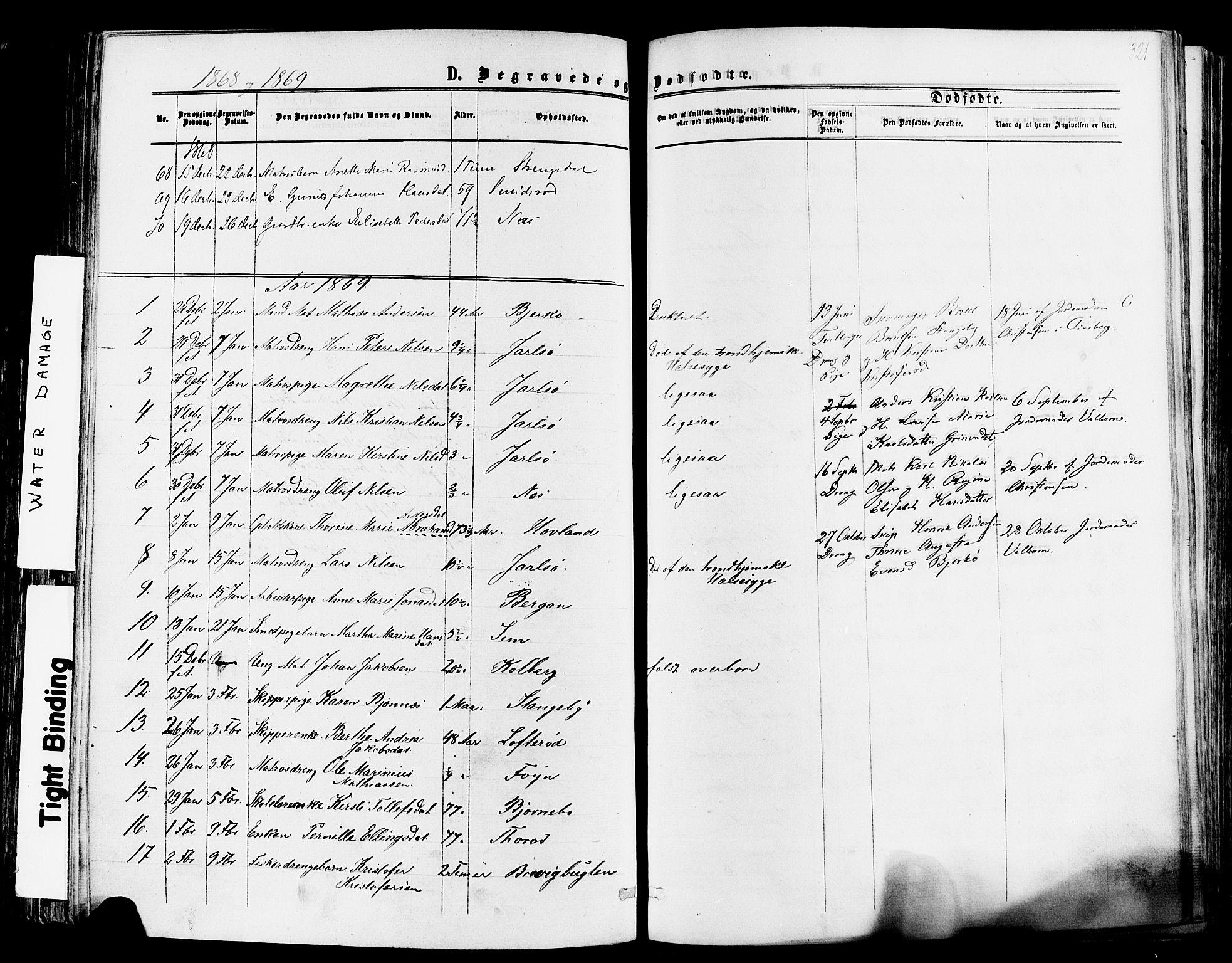 SAKO, Nøtterøy kirkebøker, F/Fa/L0007: Ministerialbok nr. I 7, 1865-1877, s. 321