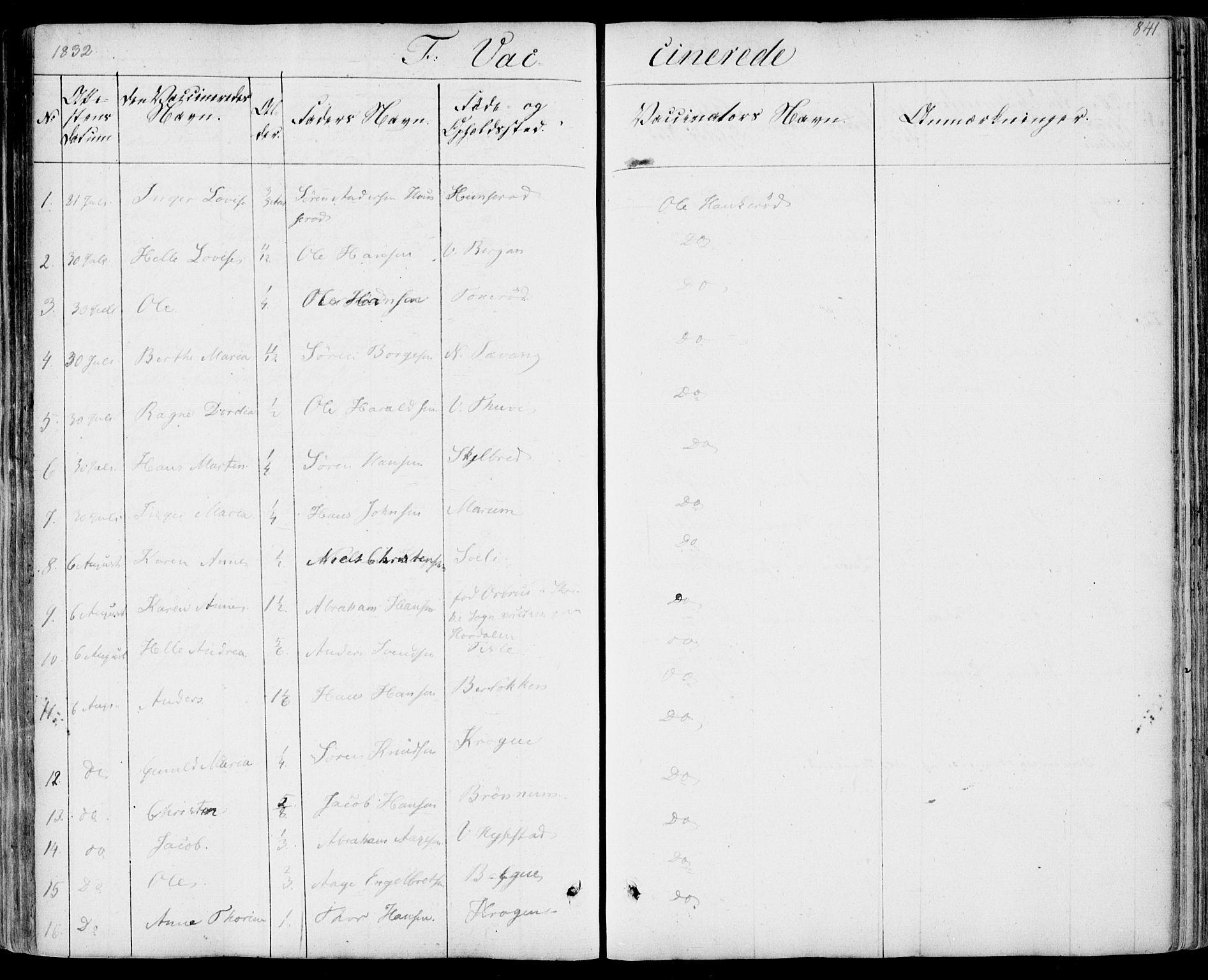 SAKO, Sandar kirkebøker, F/Fa/L0005: Ministerialbok nr. 5, 1832-1847, s. 840-841