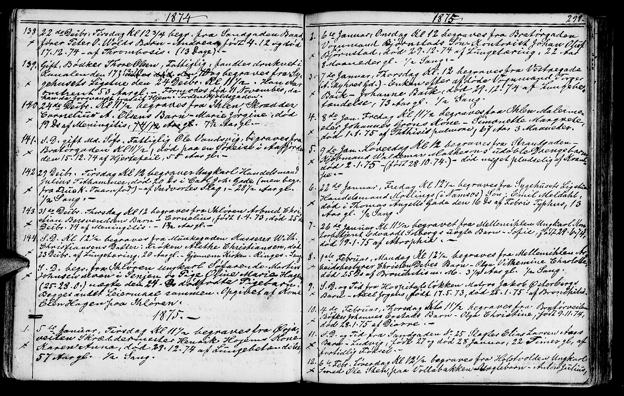 SAT, Ministerialprotokoller, klokkerbøker og fødselsregistre - Sør-Trøndelag, 602/L0142: Klokkerbok nr. 602C10, 1872-1894, s. 298