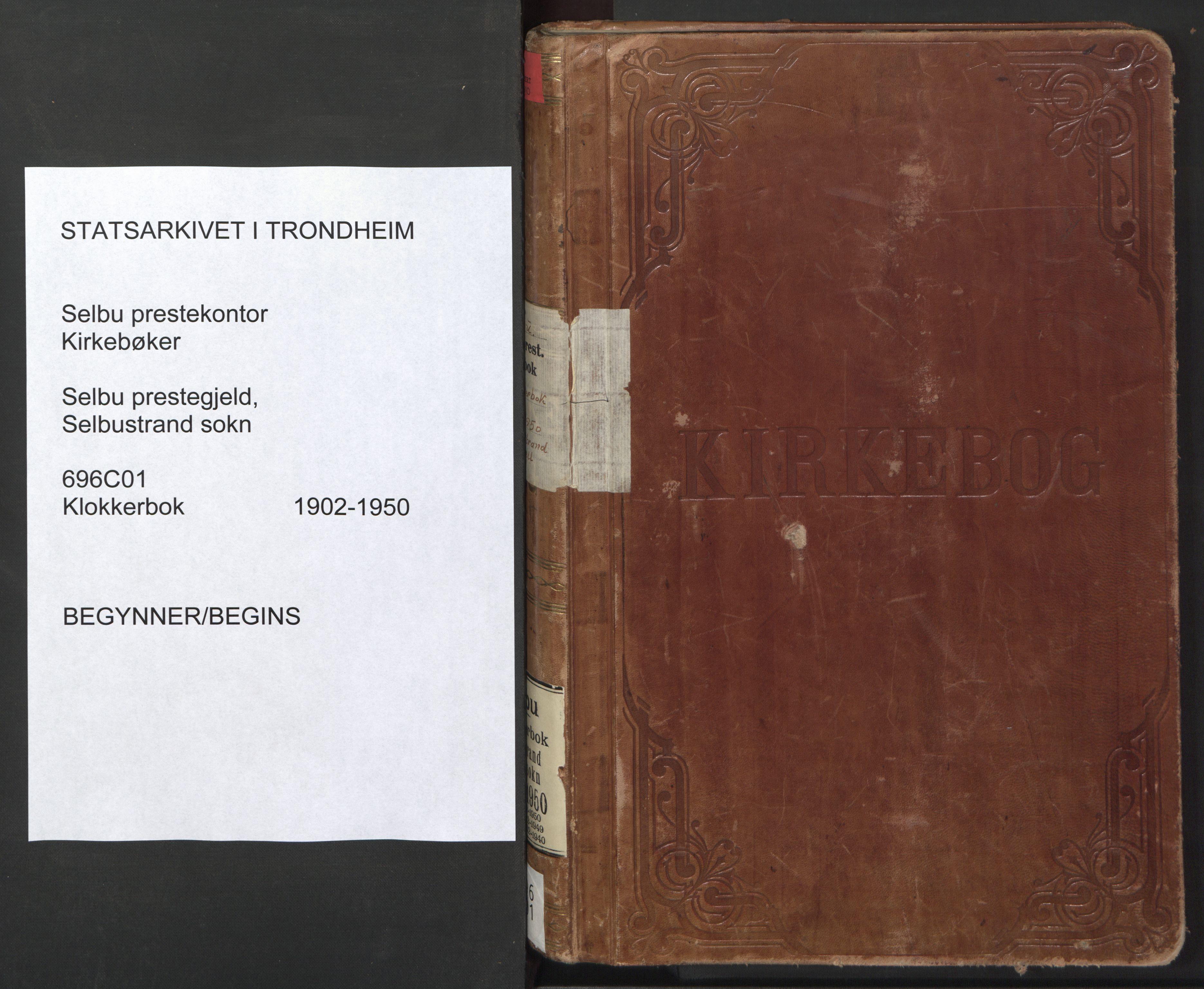 SAT, Ministerialprotokoller, klokkerbøker og fødselsregistre - Sør-Trøndelag, 696/L1161: Klokkerbok nr. 696C01, 1902-1950