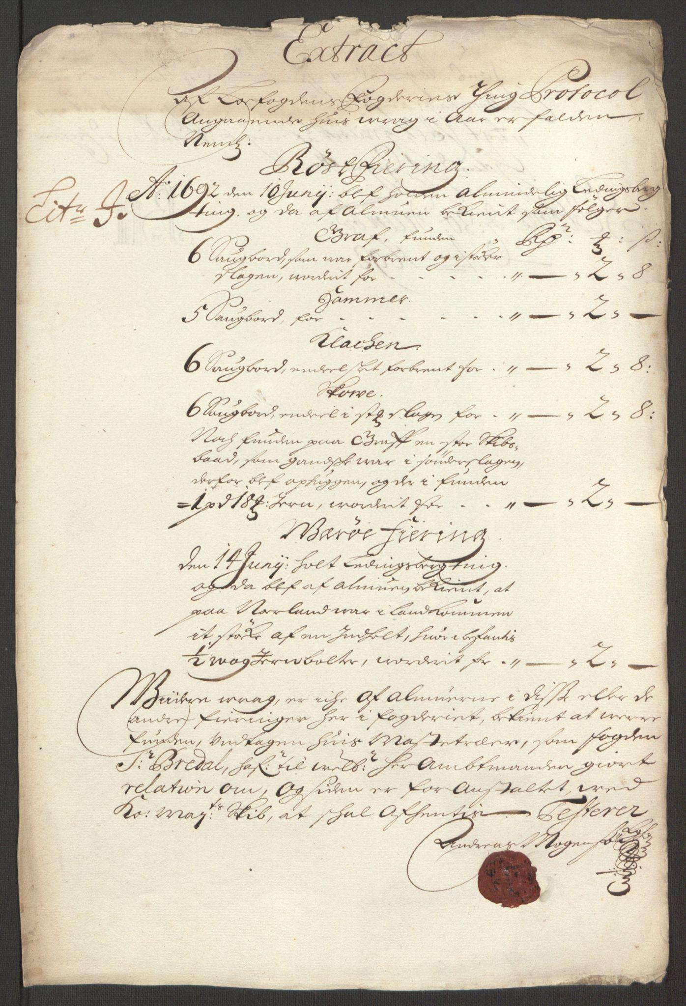 RA, Rentekammeret inntil 1814, Reviderte regnskaper, Fogderegnskap, R67/L4675: Fogderegnskap Vesterålen, Andenes og Lofoten, 1691-1693, s. 196