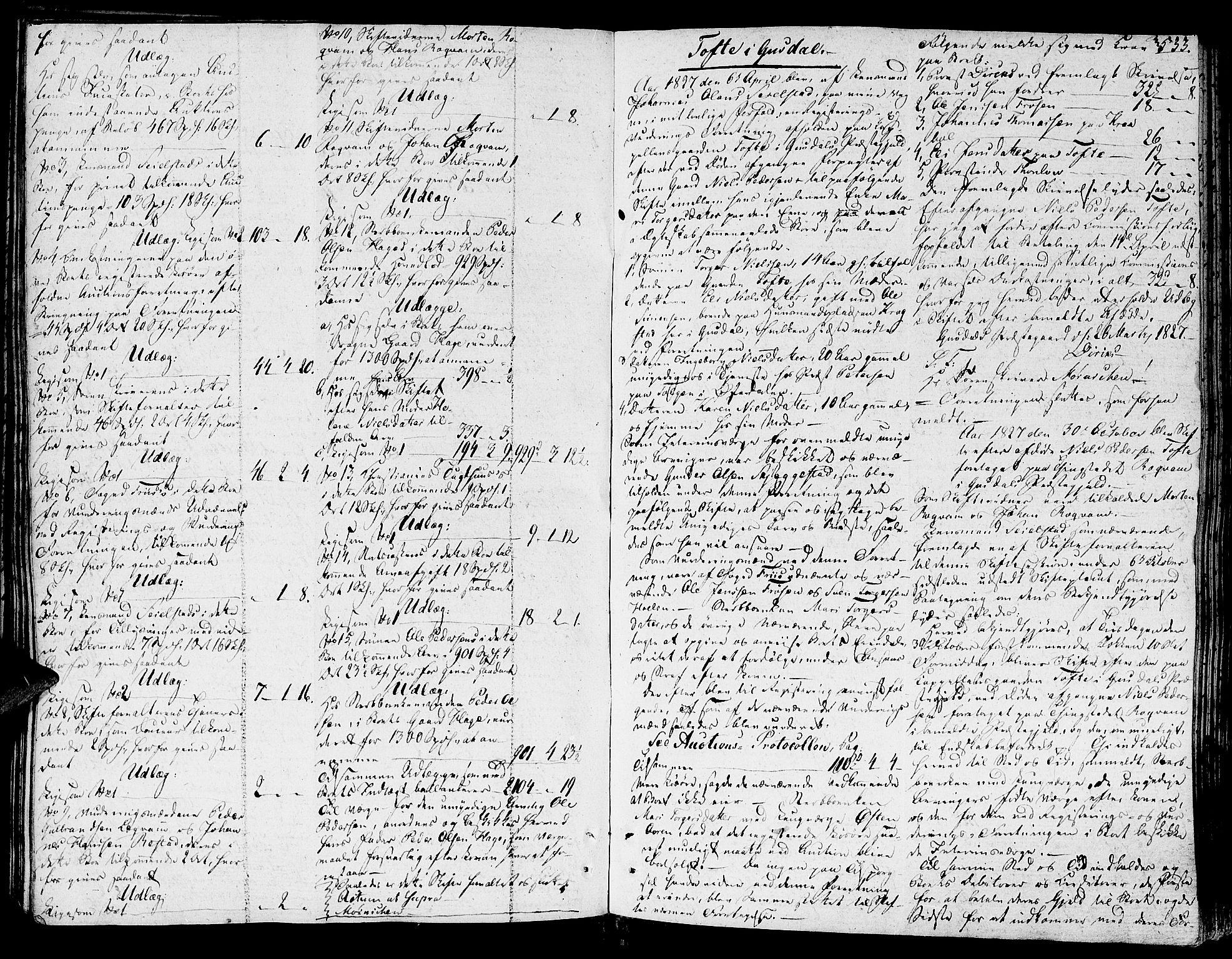 SAH, Sør-Gudbrandsdal tingrett, J/Ja/Jaa/L0010A: Skifteprotokoll, 1820-1831, s. 532b-533a