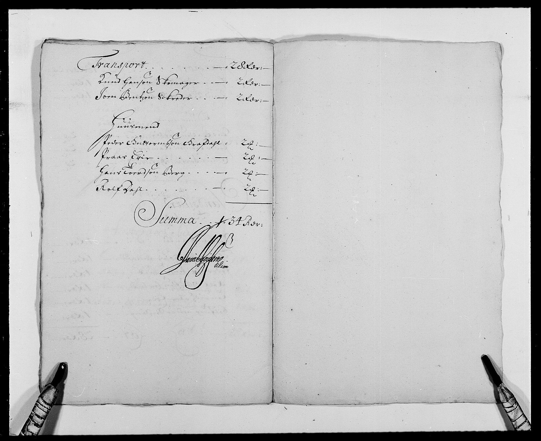 RA, Rentekammeret inntil 1814, Reviderte regnskaper, Fogderegnskap, R24/L1573: Fogderegnskap Numedal og Sandsvær, 1687-1691, s. 323