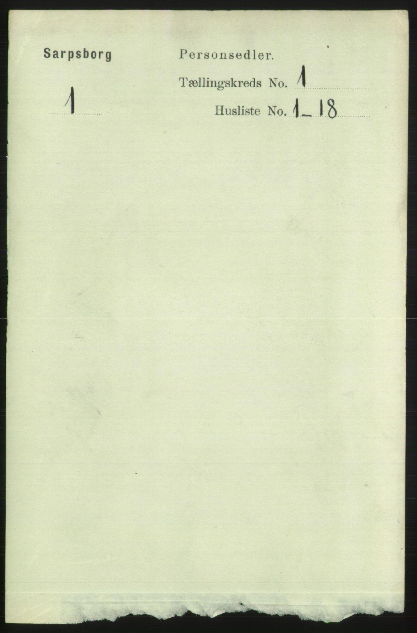RA, Folketelling 1891 for 0102 Sarpsborg kjøpstad, 1891, s. 201
