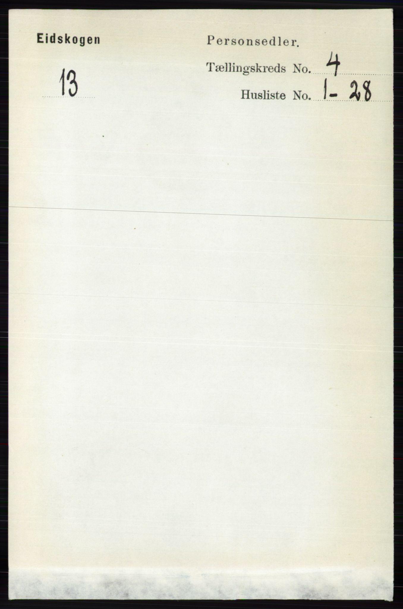 RA, Folketelling 1891 for 0420 Eidskog herred, 1891, s. 1582