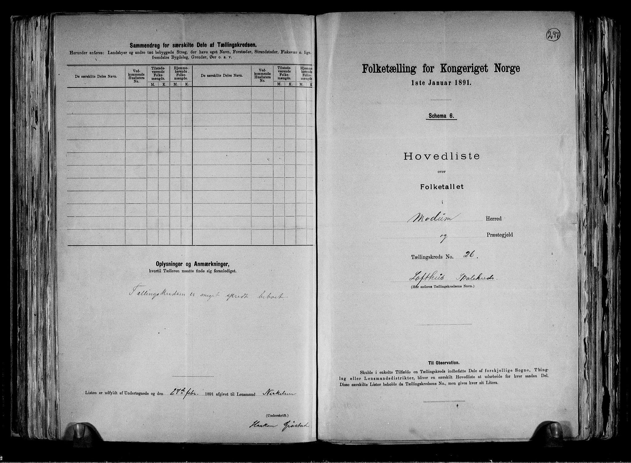 RA, Folketelling 1891 for 0623 Modum herred, 1891, s. 60