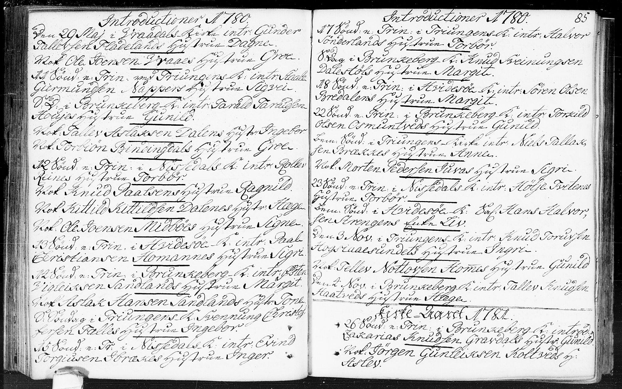 SAKO, Kviteseid kirkebøker, F/Fa/L0002: Ministerialbok nr. I 2, 1773-1786, s. 85