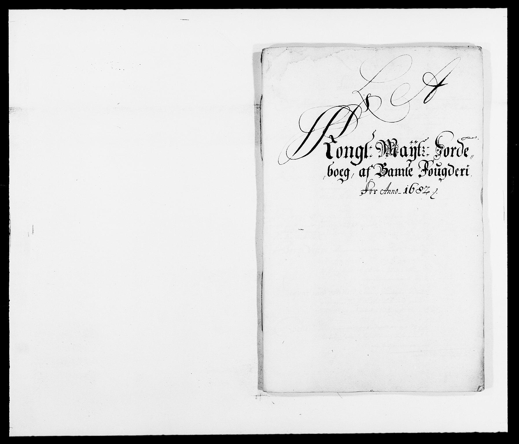 RA, Rentekammeret inntil 1814, Reviderte regnskaper, Fogderegnskap, R34/L2046: Fogderegnskap Bamble, 1682-1683, s. 5