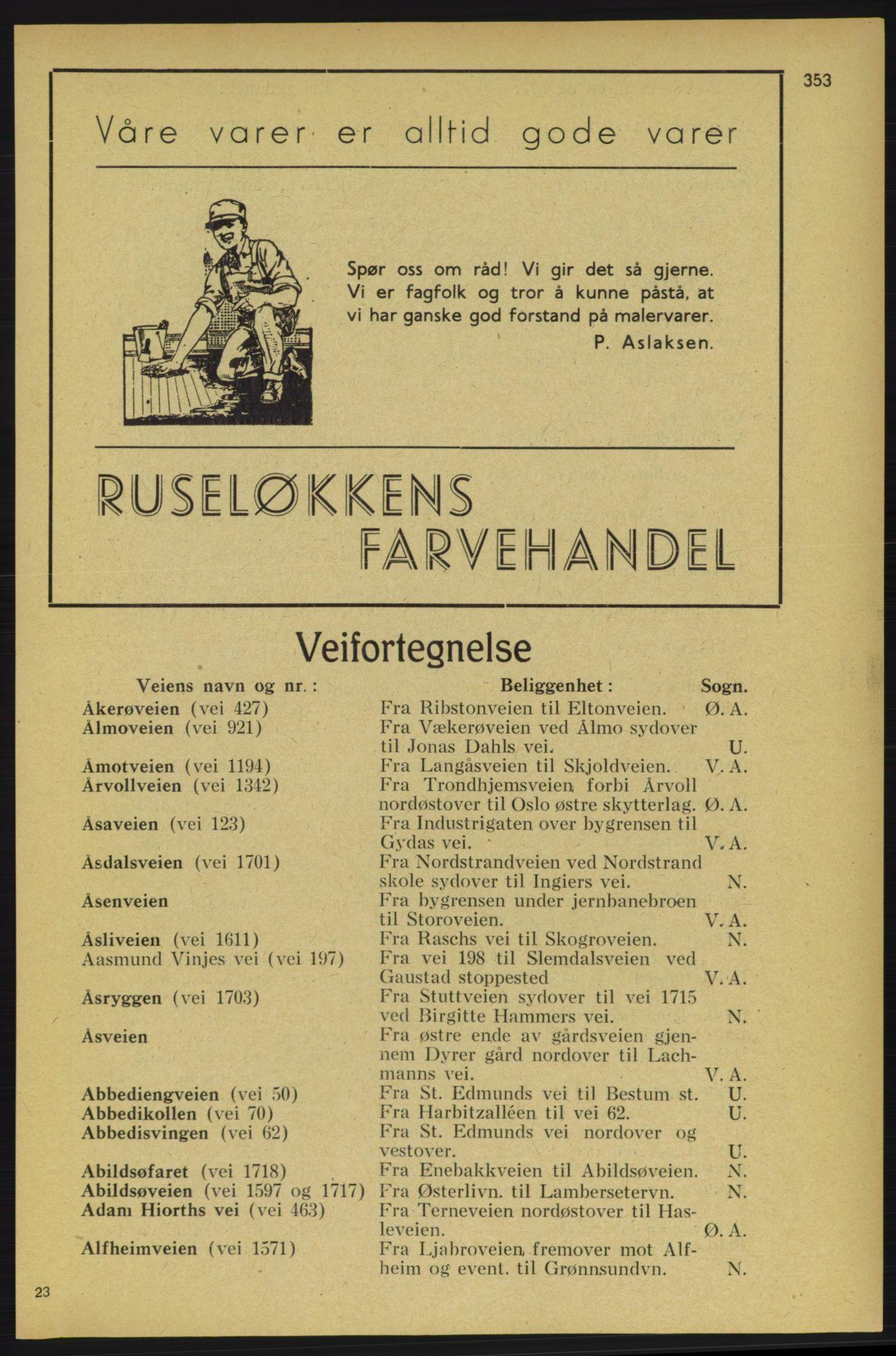 PUBL, Aker adressebok/adressekalender, 1934-1935, s. 353