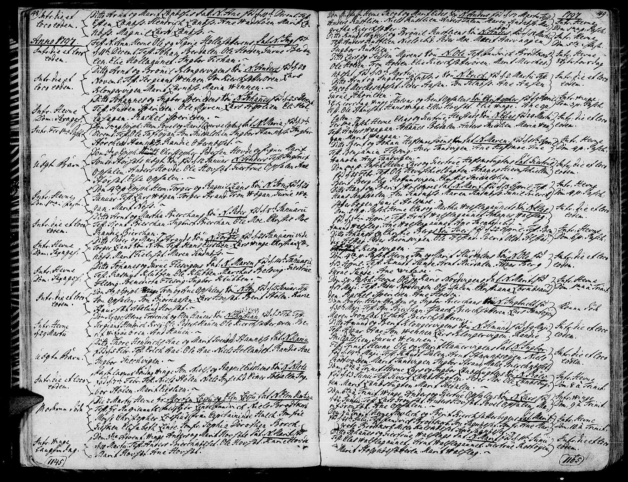 SAT, Ministerialprotokoller, klokkerbøker og fødselsregistre - Sør-Trøndelag, 630/L0490: Ministerialbok nr. 630A03, 1795-1818, s. 48-49