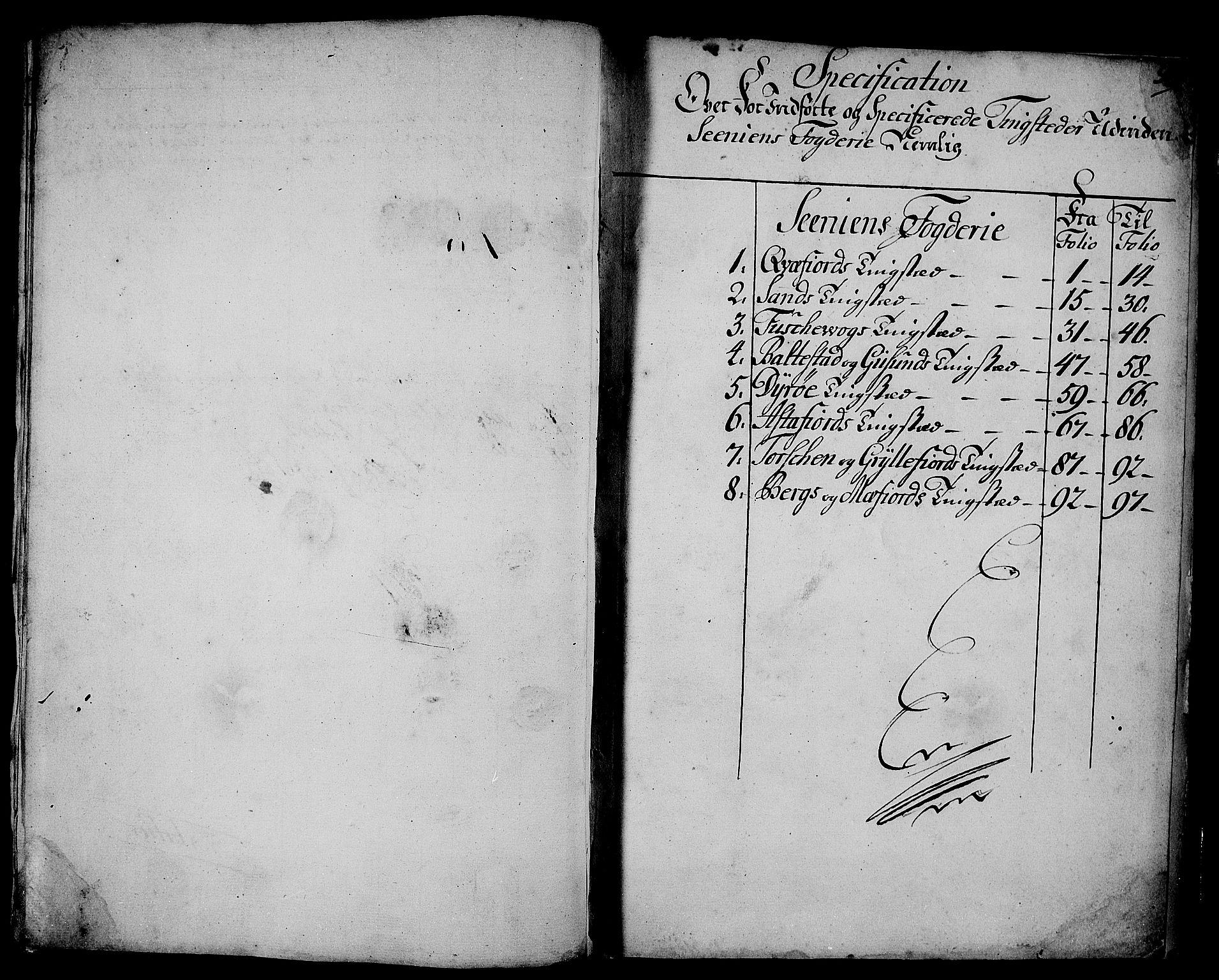 RA, Rentekammeret inntil 1814, Realistisk ordnet avdeling, N/Nb/Nbf/L0178: Senja eksaminasjonsprotokoll, 1723, s. 97b-98a