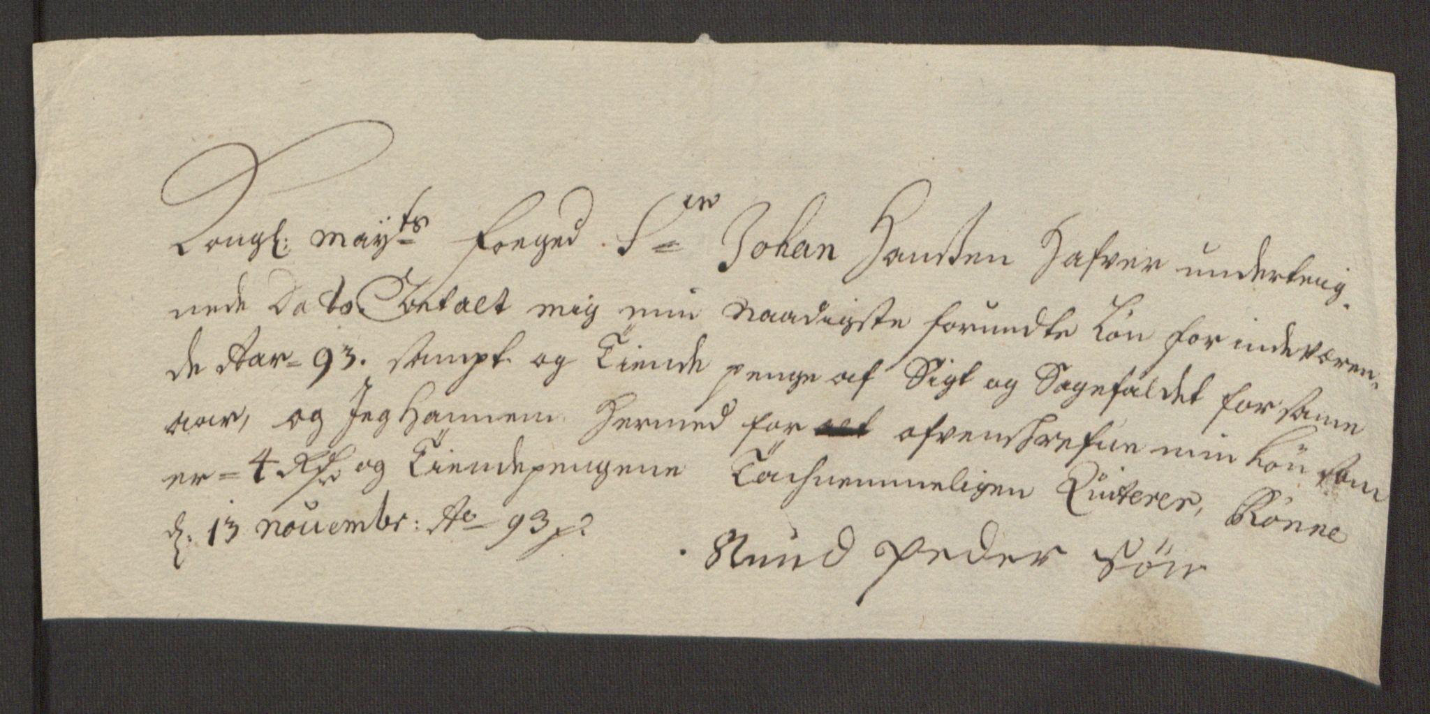 RA, Rentekammeret inntil 1814, Reviderte regnskaper, Fogderegnskap, R52/L3307: Fogderegnskap Sogn, 1693-1694, s. 137