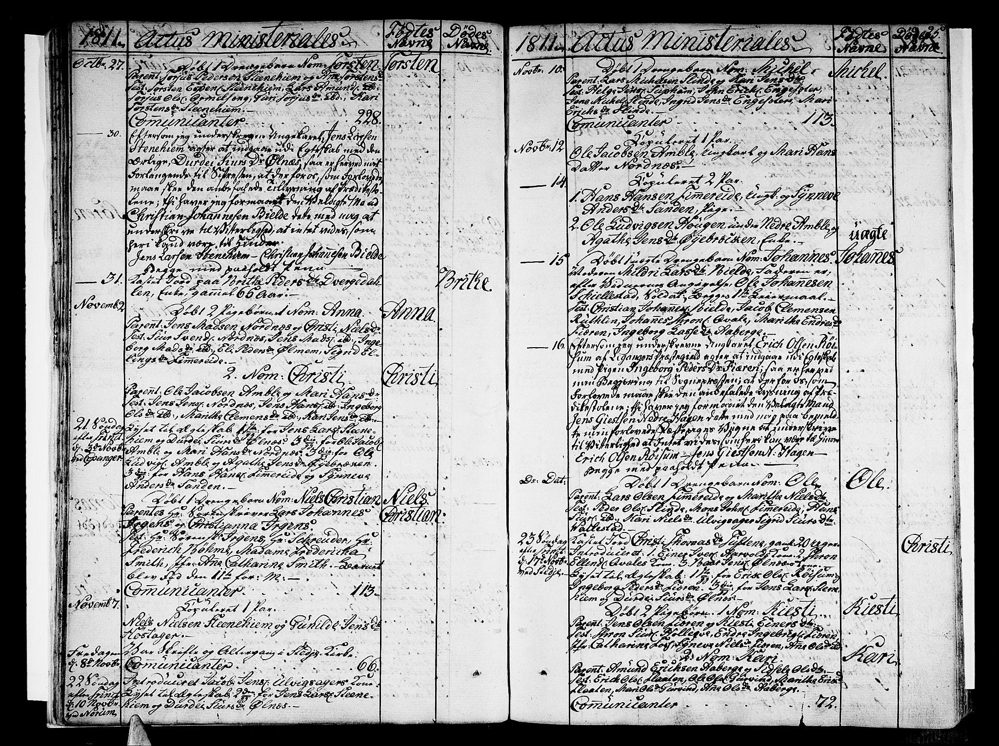 SAB, Sogndal Sokneprestembete, Ministerialbok nr. A 9, 1809-1821, s. 25