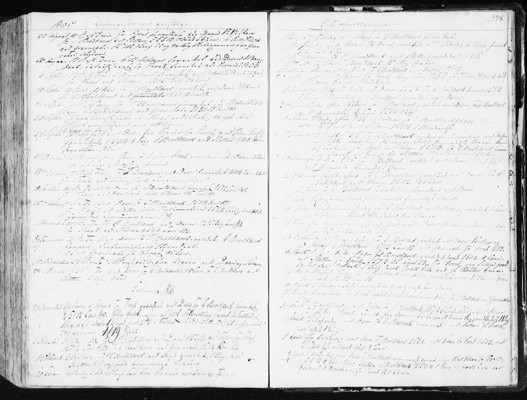 SAT, Ministerialprotokoller, klokkerbøker og fødselsregistre - Sør-Trøndelag, 634/L0528: Ministerialbok nr. 634A04, 1827-1842, s. 375