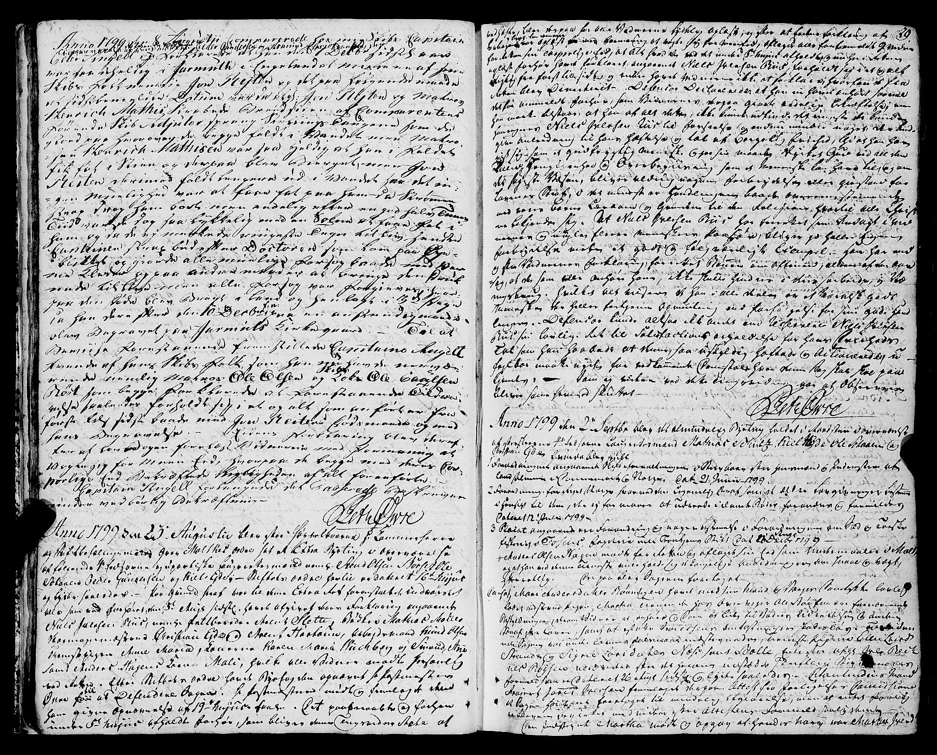 SAT, Molde byfogd, 1/1A/L0002: Justisprotokoll, 1797-1831, s. 28b-29a