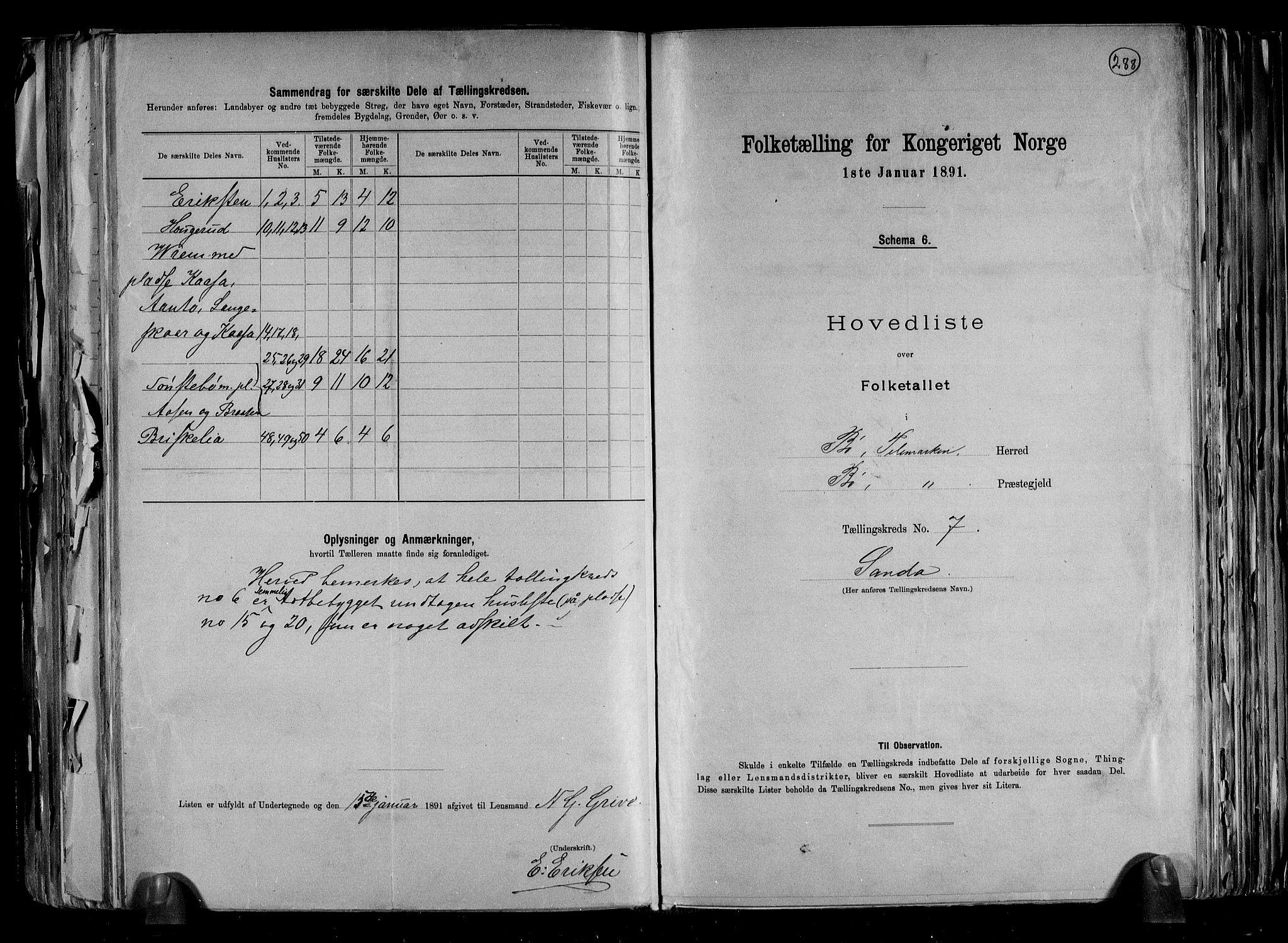RA, Folketelling 1891 for 0821 Bø herred, 1891, s. 16