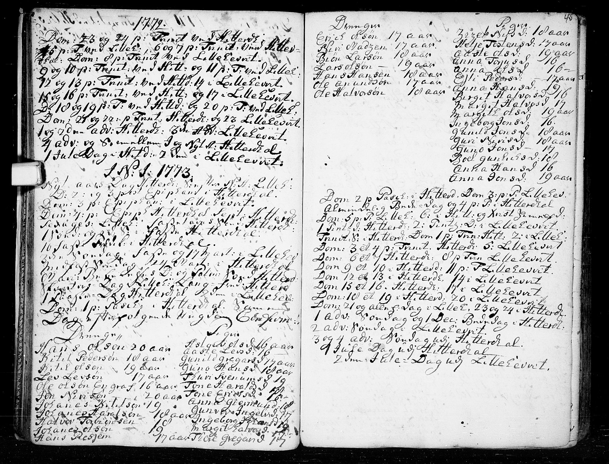 SAKO, Heddal kirkebøker, F/Fa/L0003: Ministerialbok nr. I 3, 1723-1783, s. 45