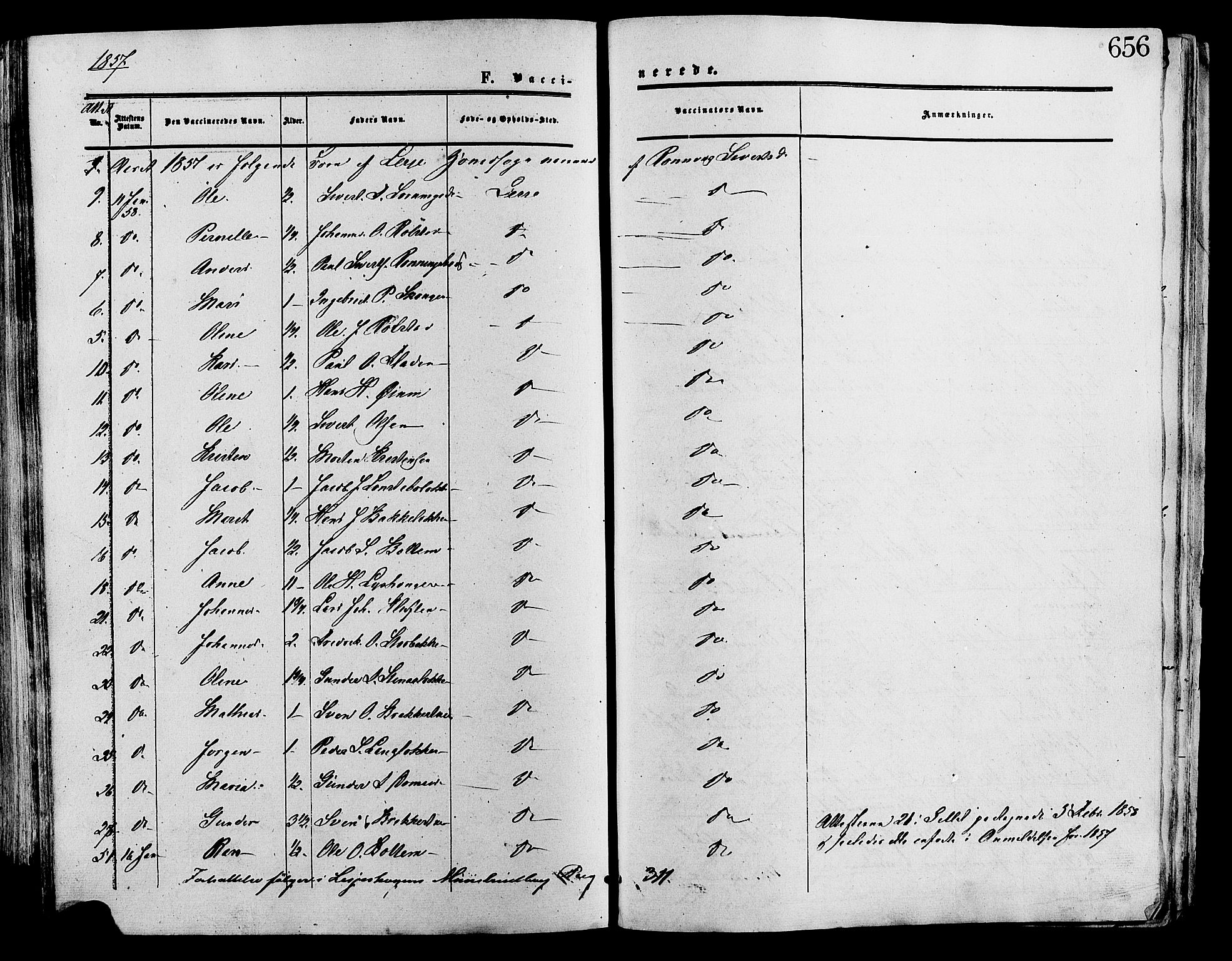 SAH, Lesja prestekontor, Ministerialbok nr. 8, 1854-1880, s. 656