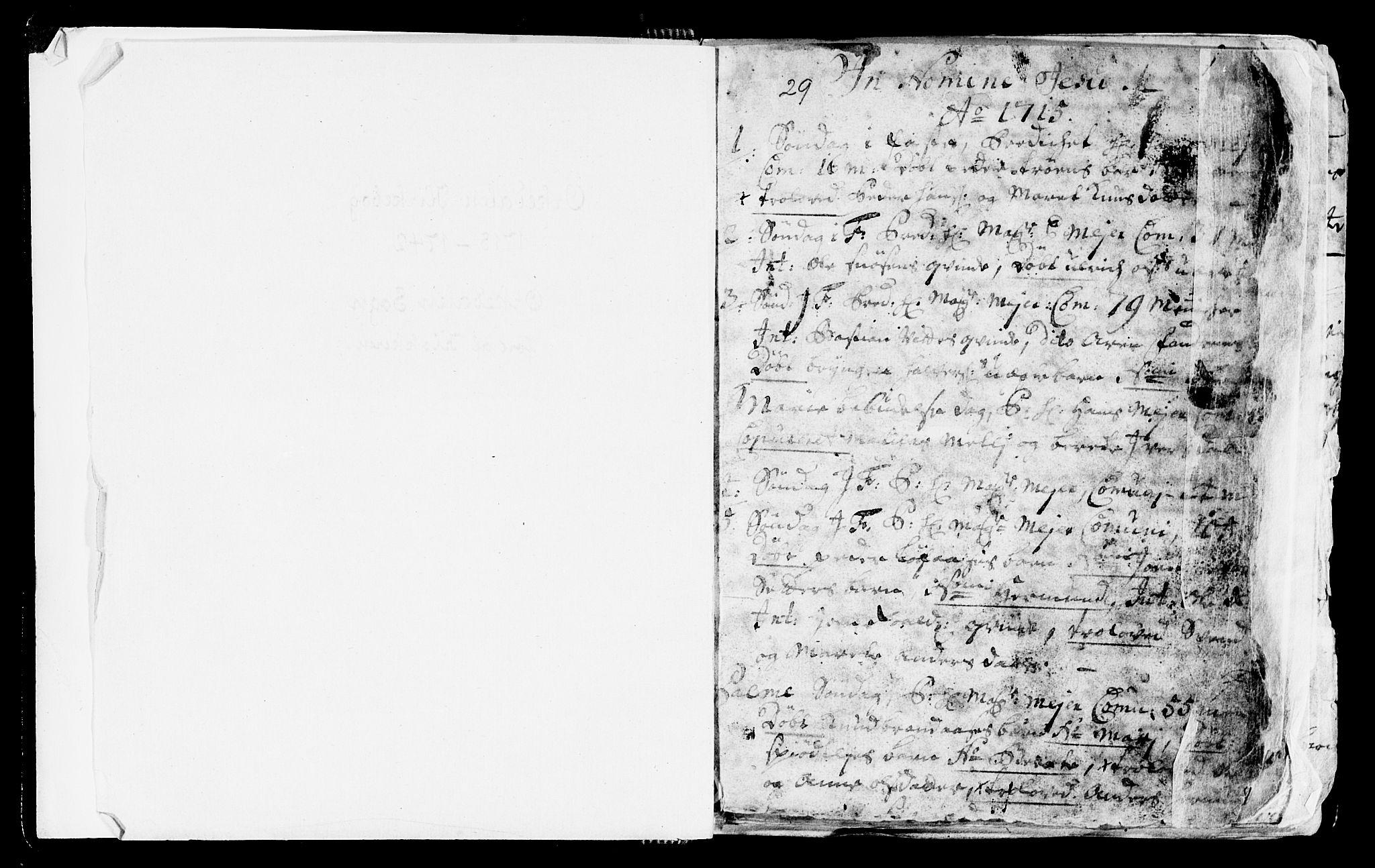 SAT, Ministerialprotokoller, klokkerbøker og fødselsregistre - Sør-Trøndelag, 668/L0812: Klokkerbok nr. 668C01, 1715-1742, s. 1