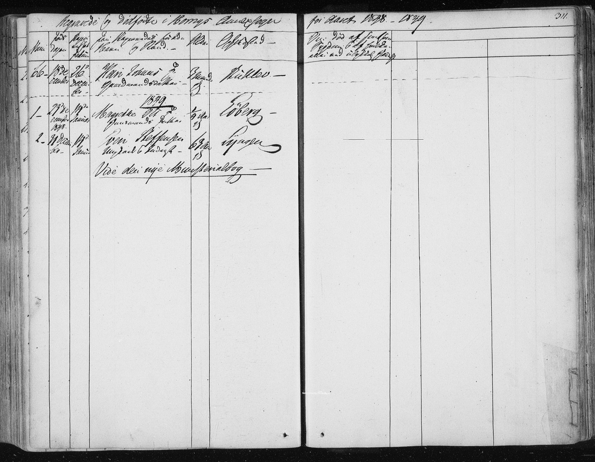 SAT, Ministerialprotokoller, klokkerbøker og fødselsregistre - Sør-Trøndelag, 687/L0998: Ministerialbok nr. 687A05 /2, 1843-1849, s. 311