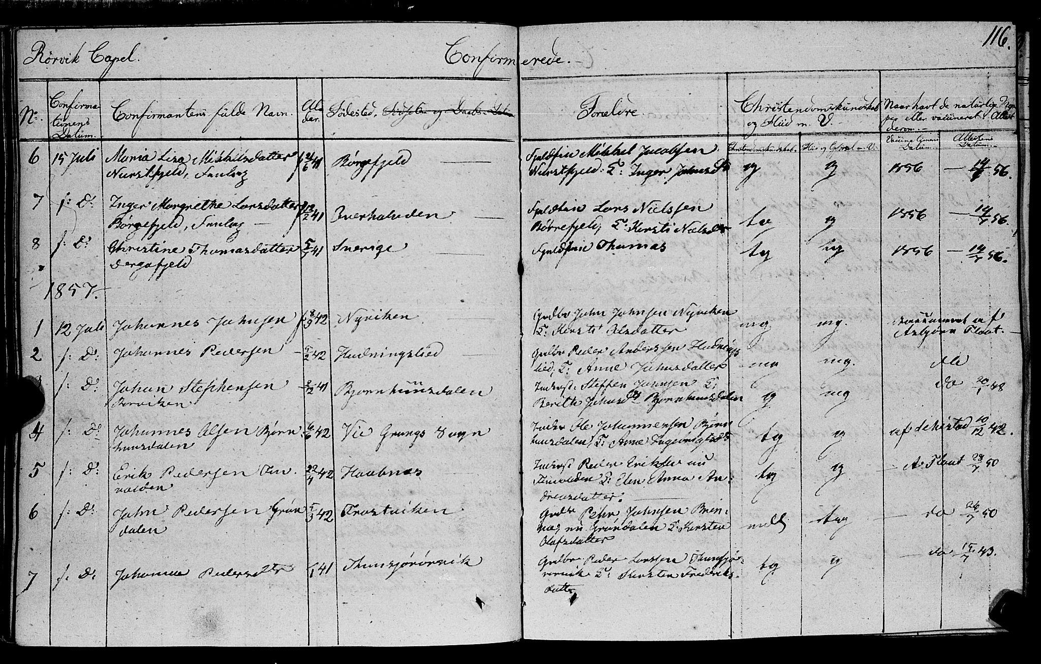 SAT, Ministerialprotokoller, klokkerbøker og fødselsregistre - Nord-Trøndelag, 762/L0538: Ministerialbok nr. 762A02 /1, 1833-1879, s. 116