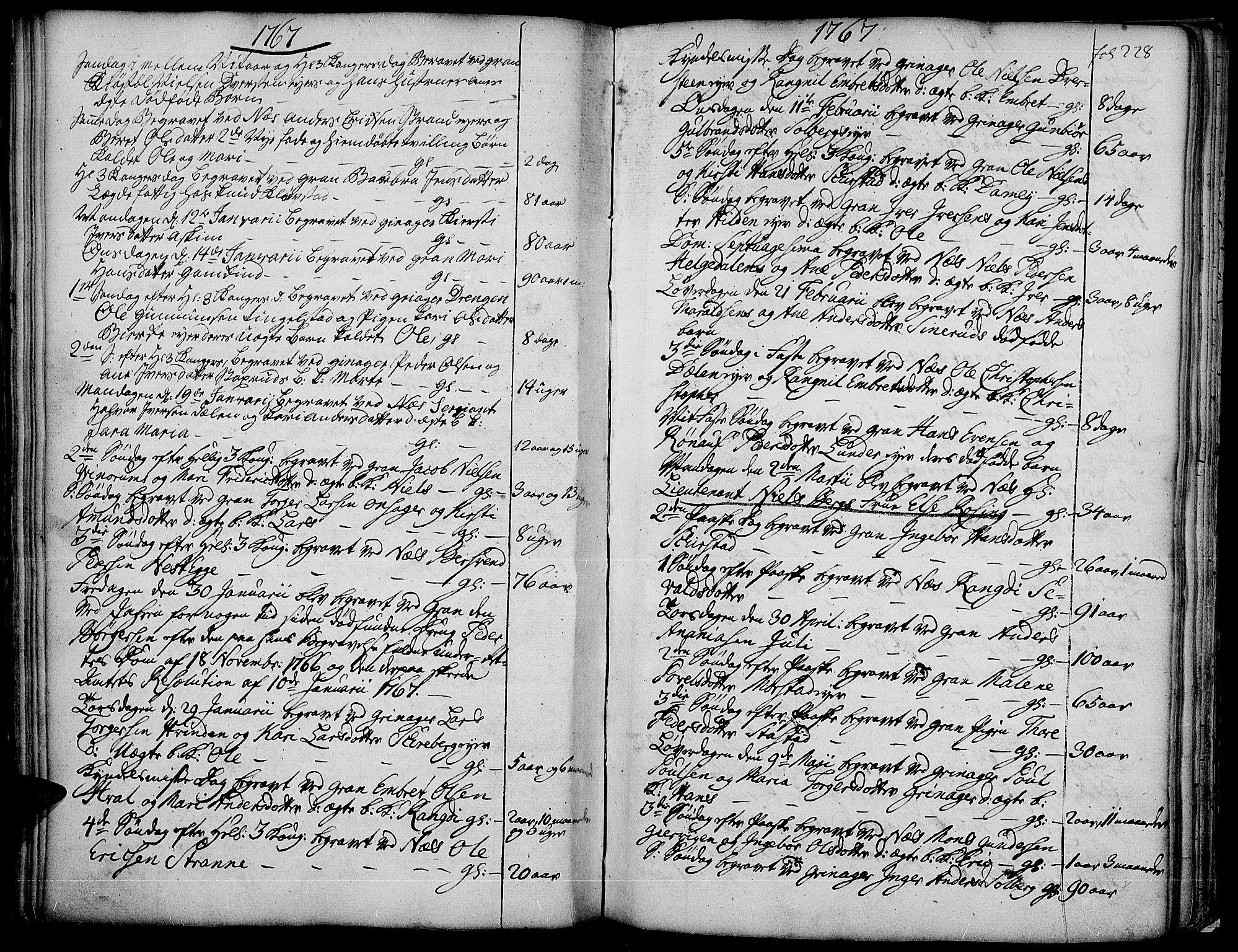 SAH, Gran prestekontor, Ministerialbok nr. 4, 1759-1775, s. 228